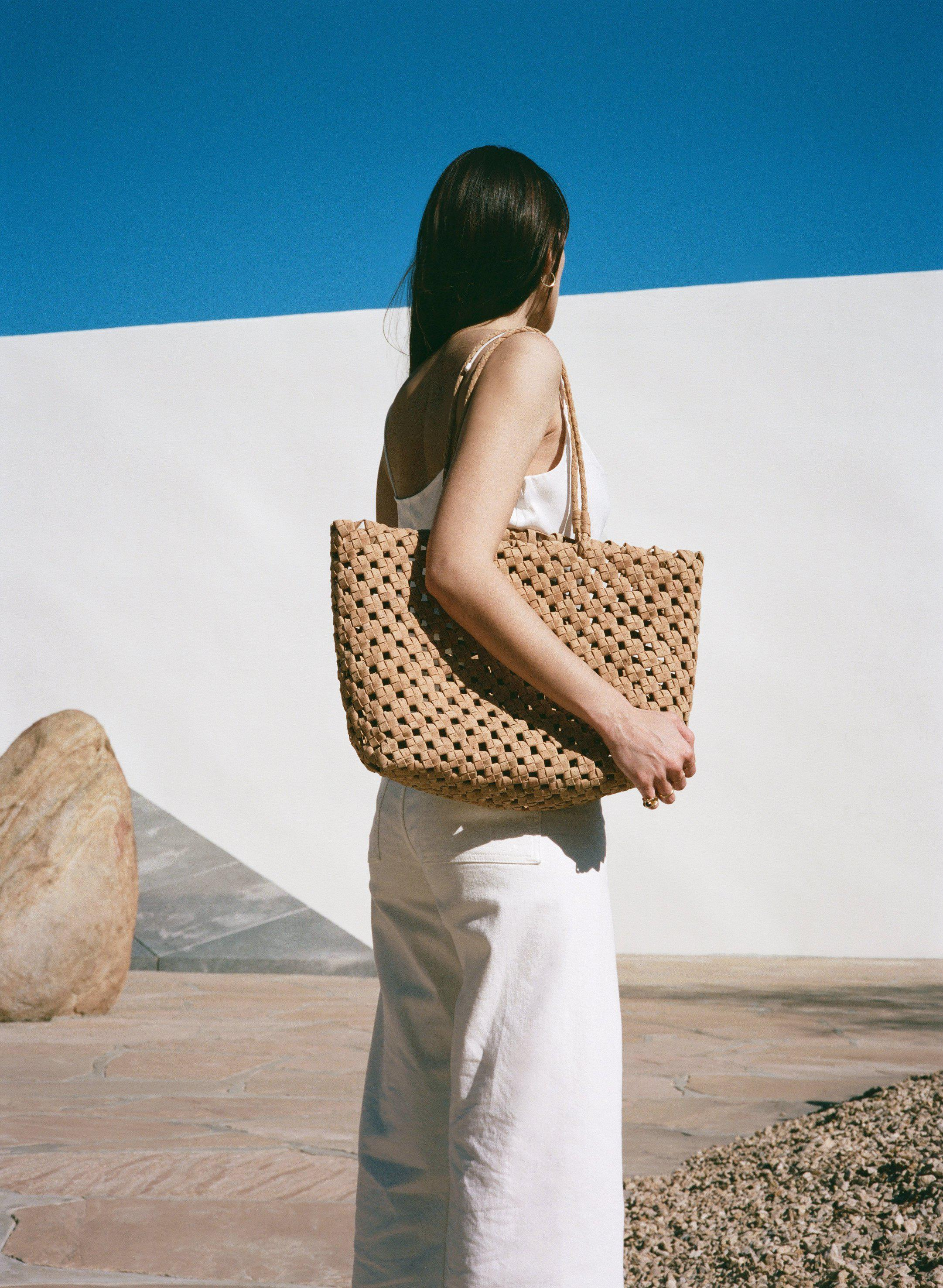 Vegan Cork Knotted Tote 6