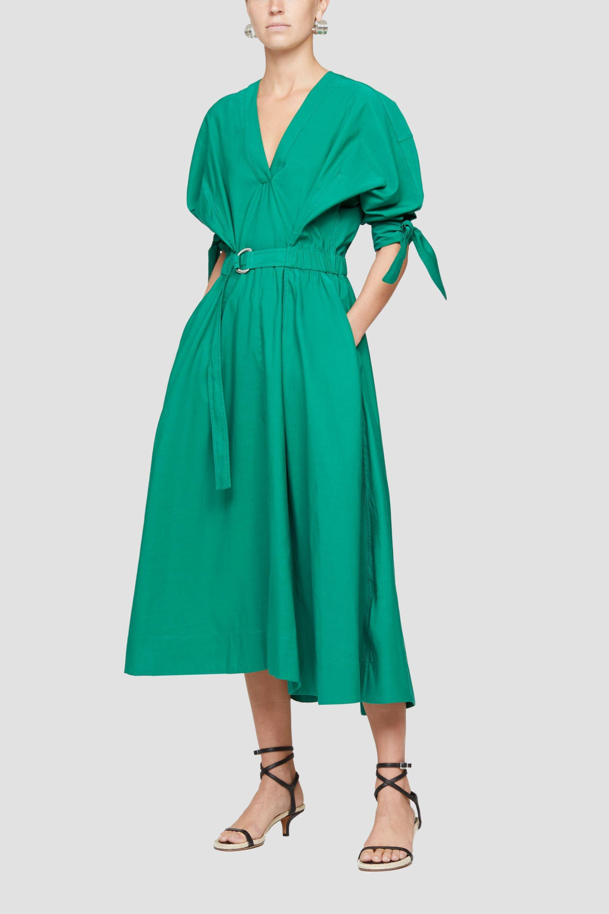 Belted Mid Length Dress 0