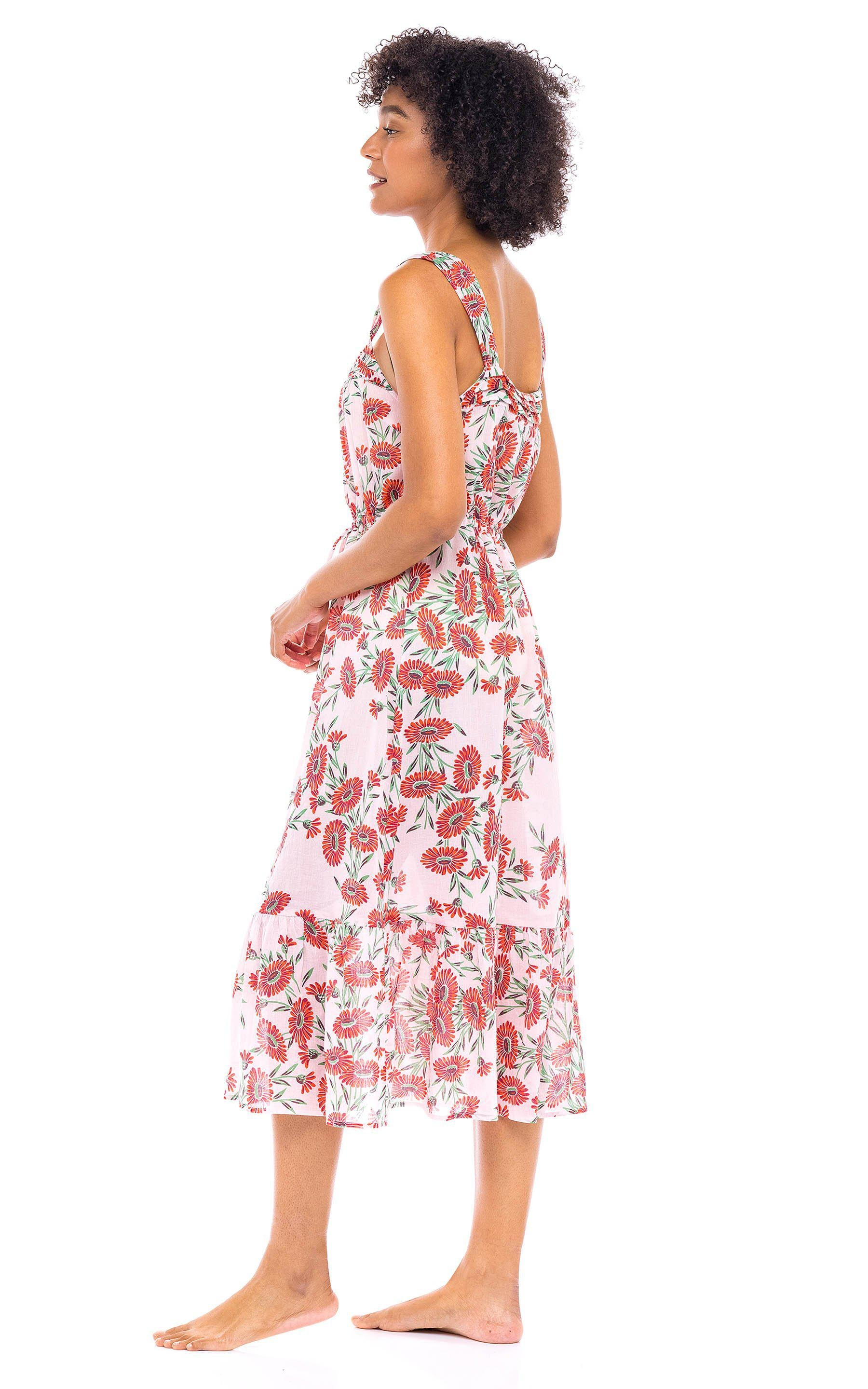 Rosalind Gown Dune Daisy White 2