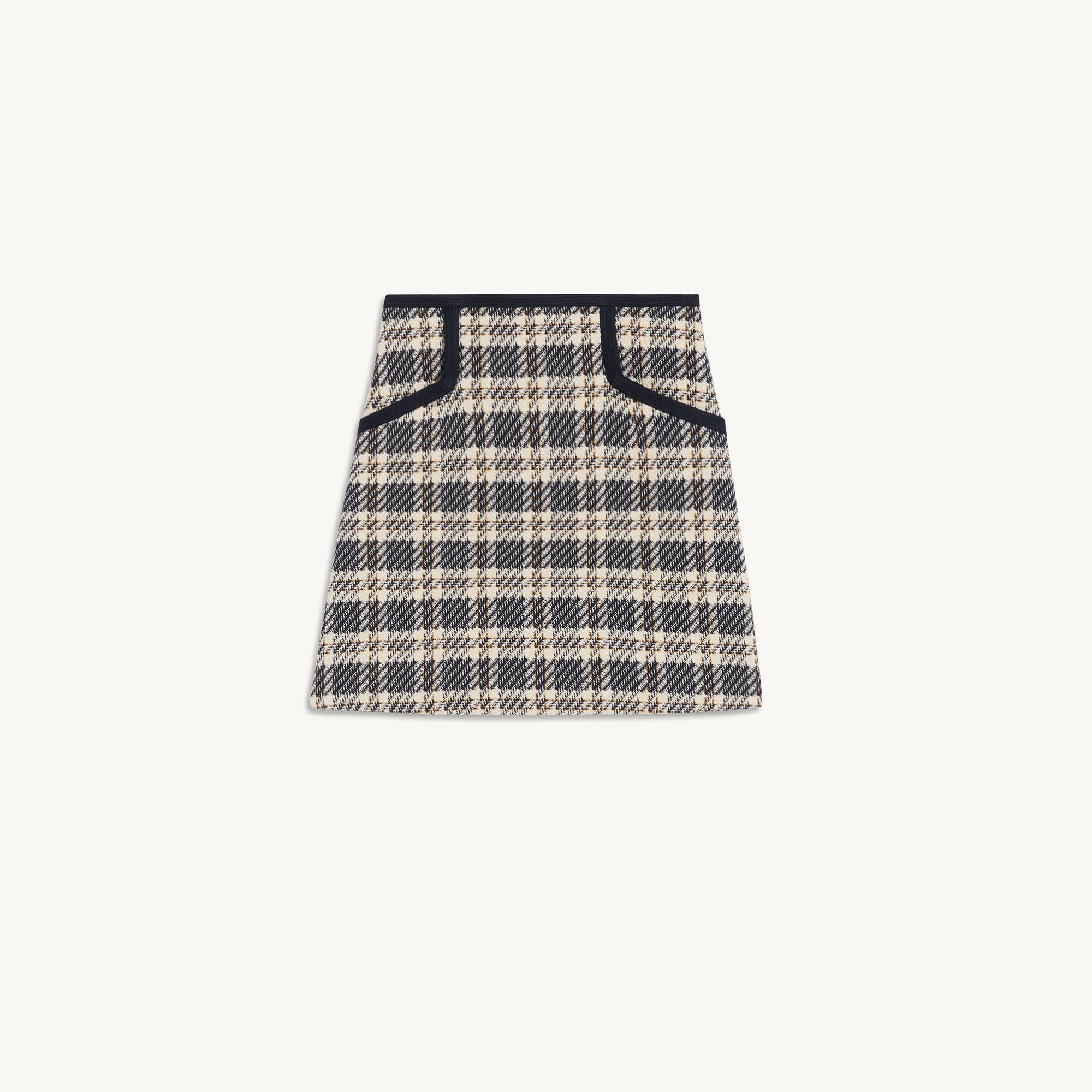 Checked tweed skirt 5