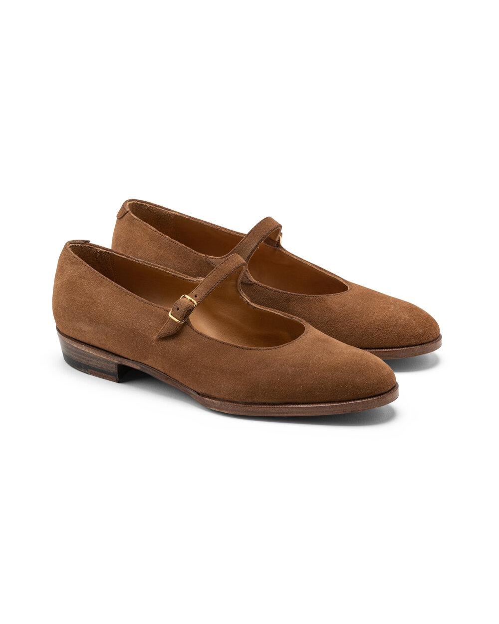 ODPEssentials Classic Mary Jane - Tan Suede 1