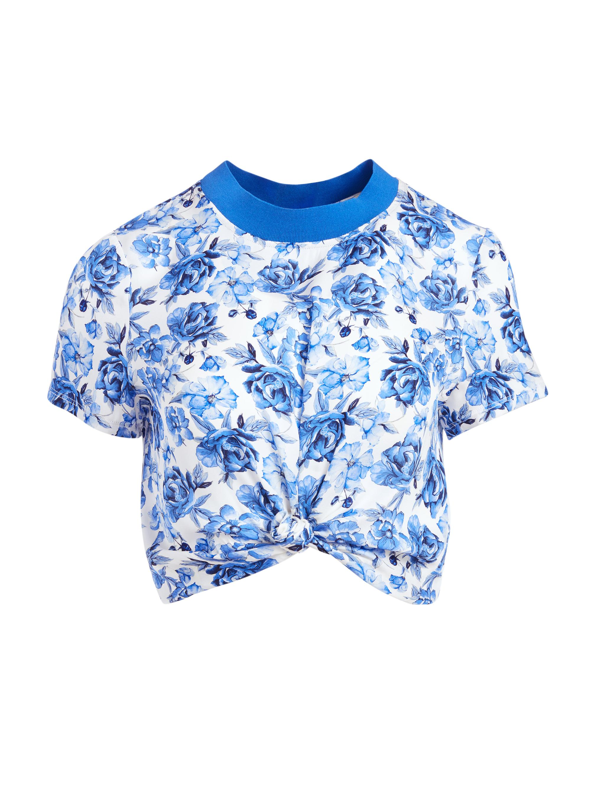 KANE FLORAL TIE FRONT TEE 4