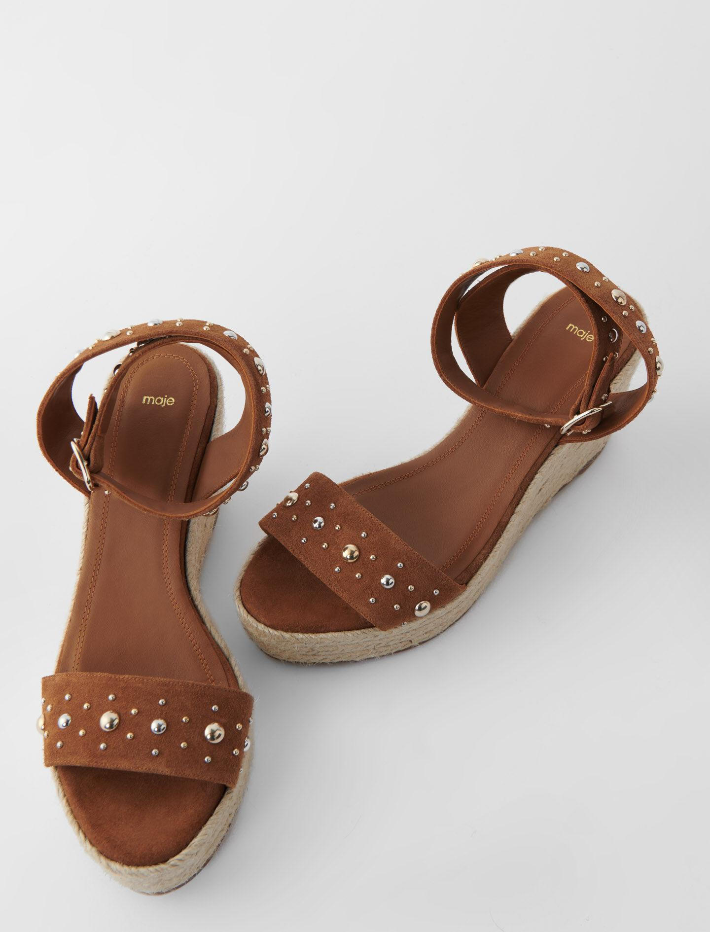 WEDGE SANDALS WITH SUEDE STRAPS 3