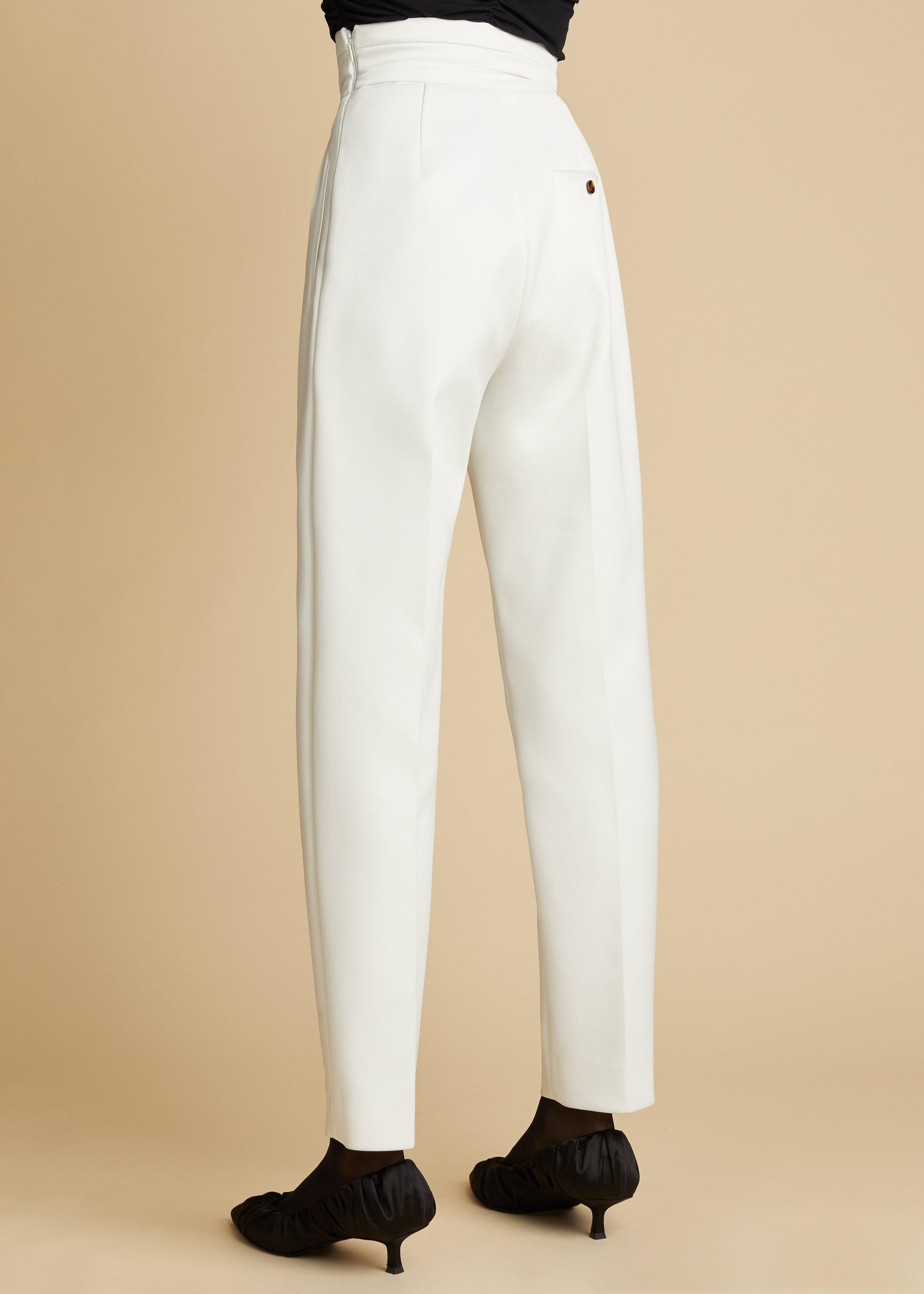 The Connelly Pant in Ivory 2