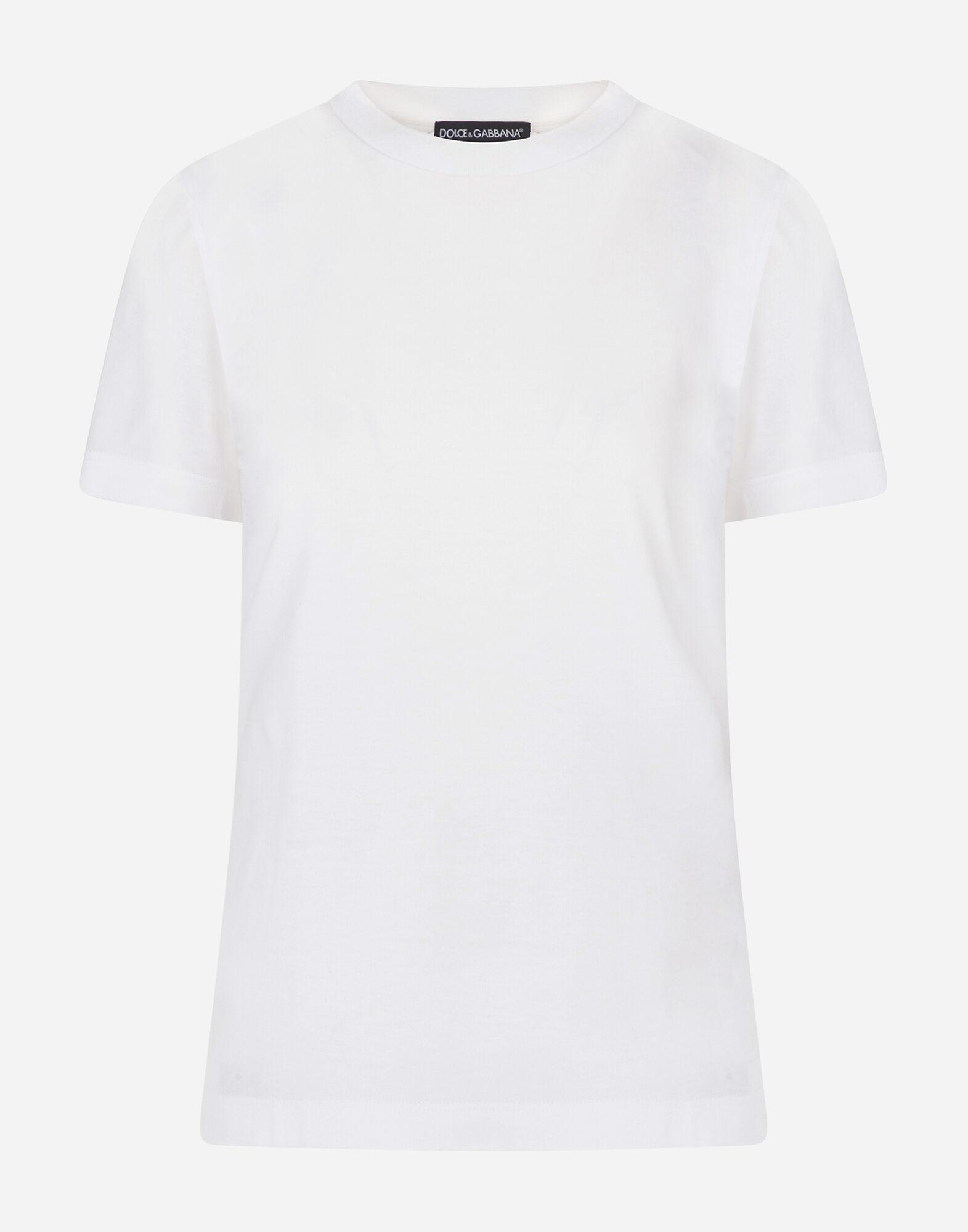 Jersey t-shirt with embroidered label 4