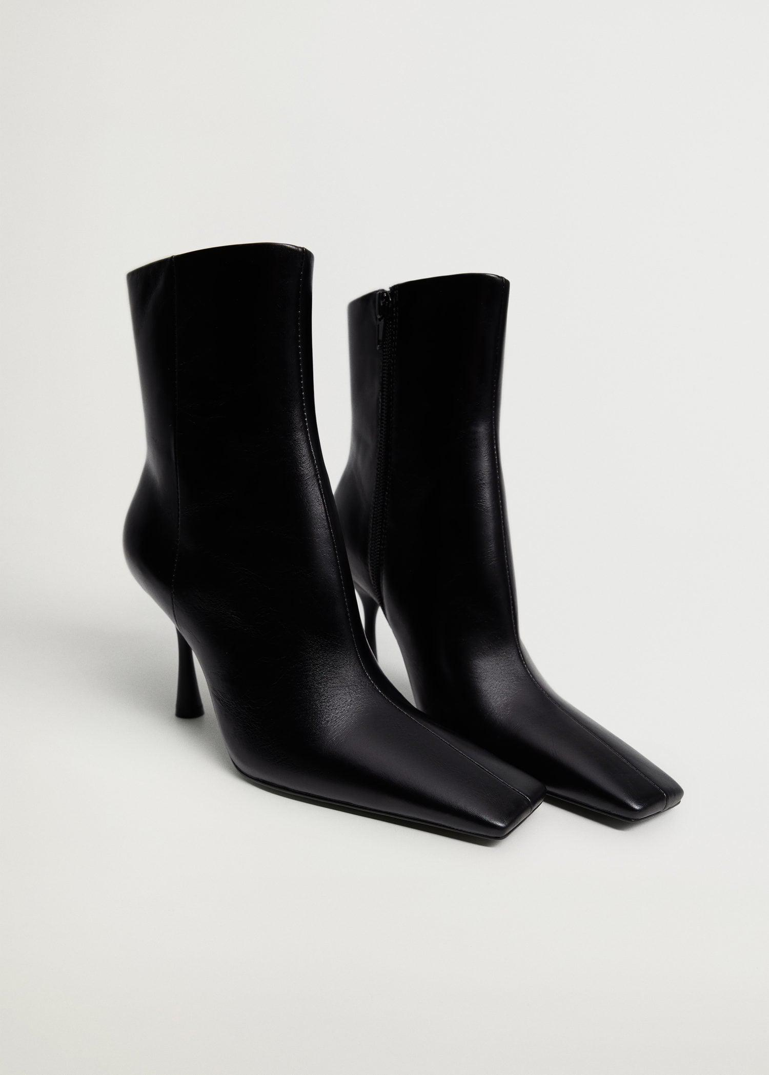 Heel leather ankle boot 1