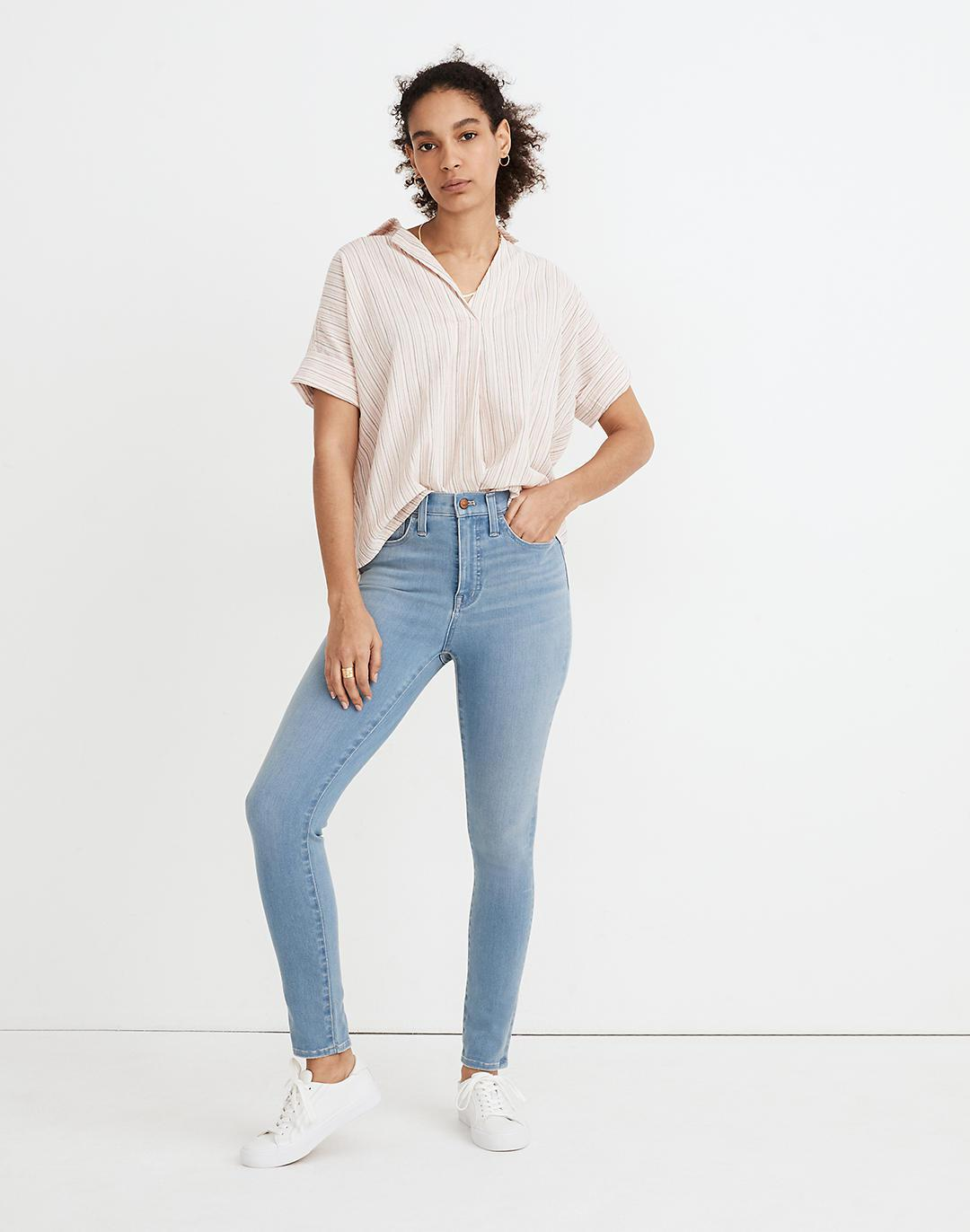 """Tall 10"""" High-Rise Roadtripper Supersoft Jeggings in Mcleod Wash"""