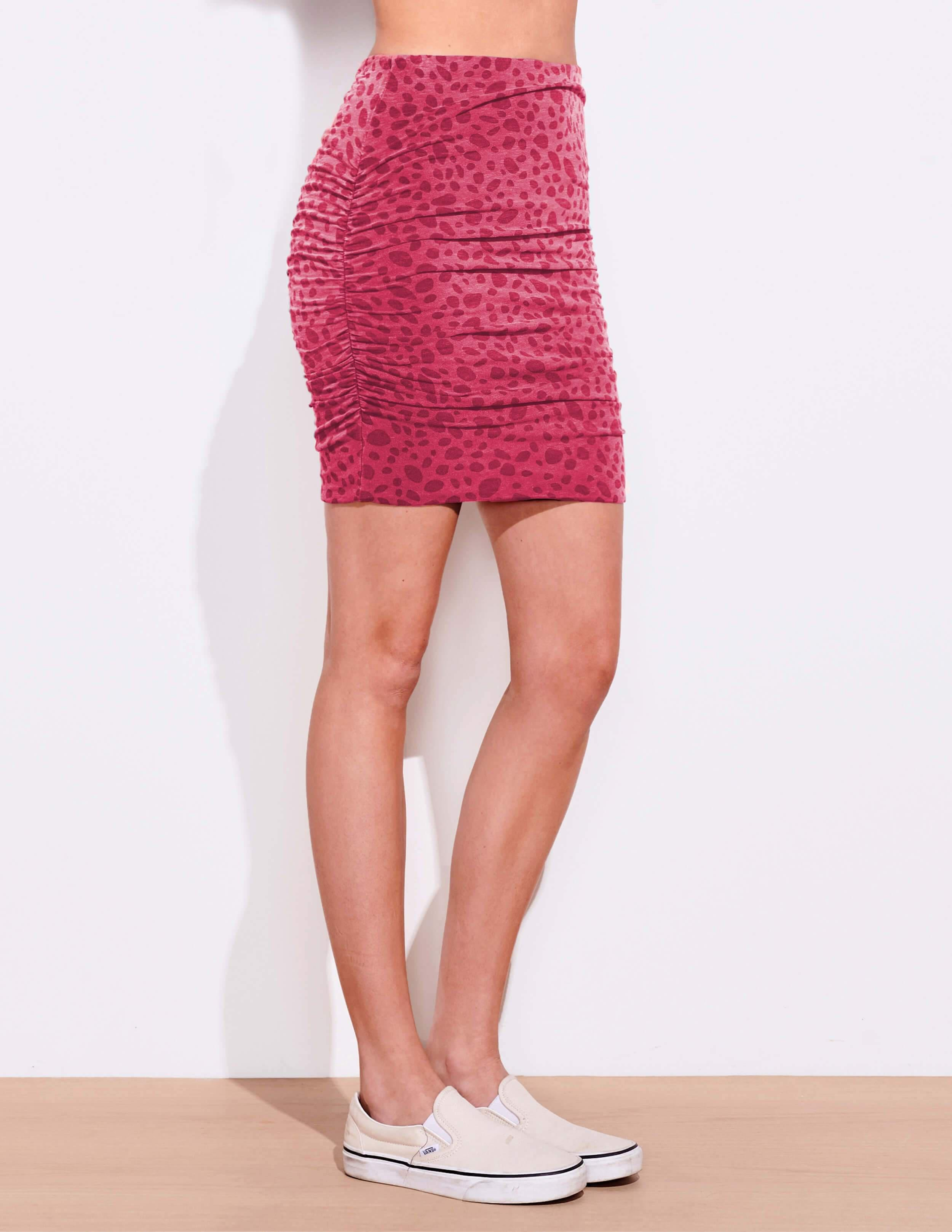 Dots Ruched Skirt