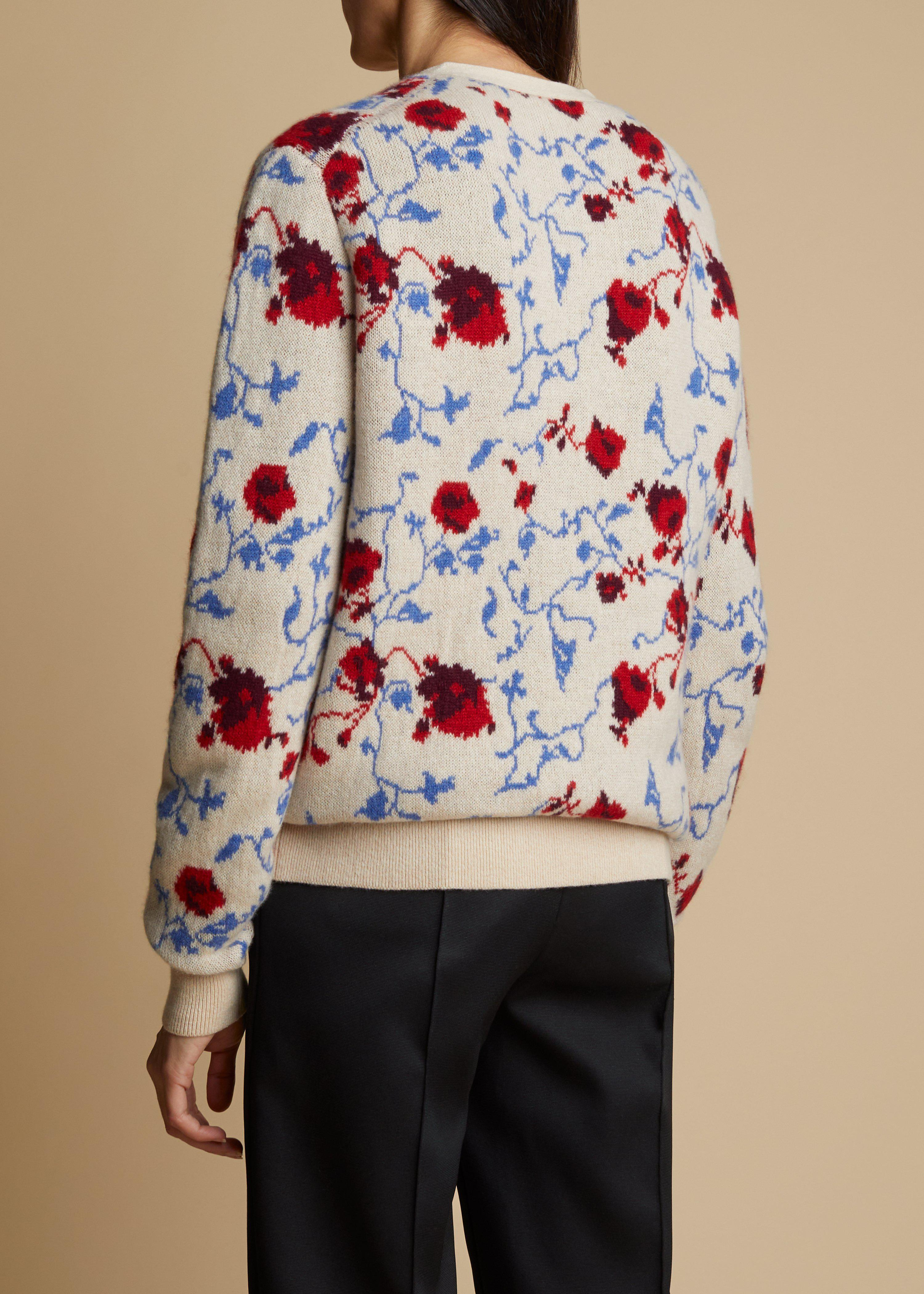 The Amelia Cardigan in Floral Jacquard 2