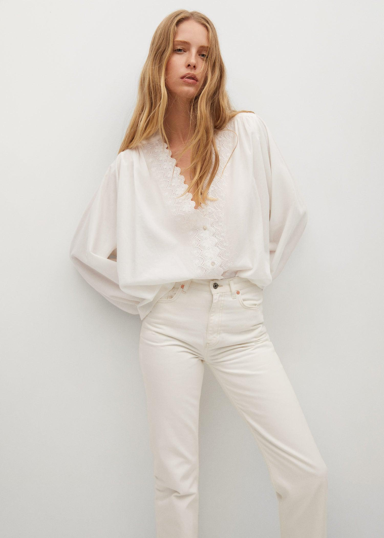Embroidered detail shirt