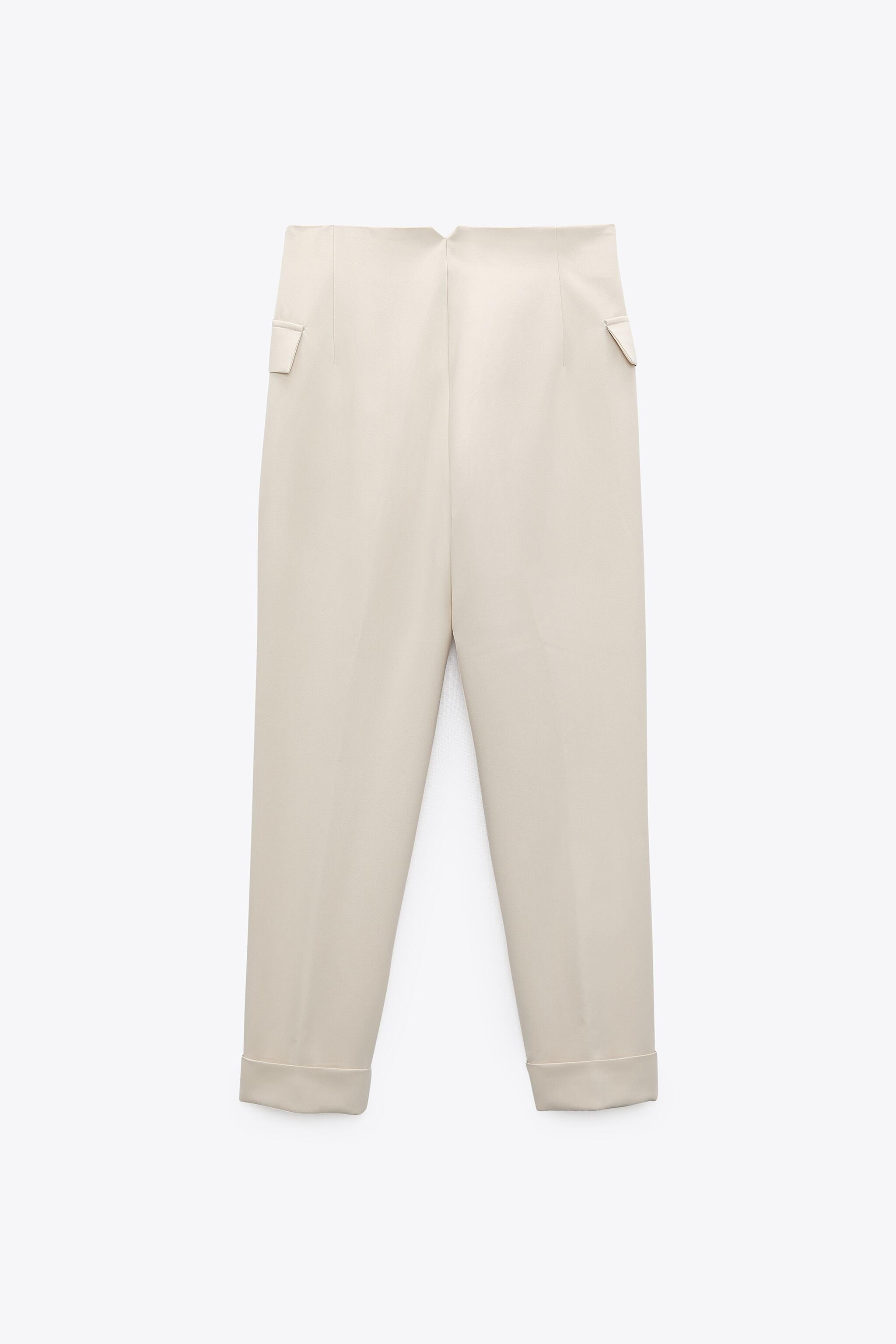 BUTTONED HIGH-WAISTED PANTS 5