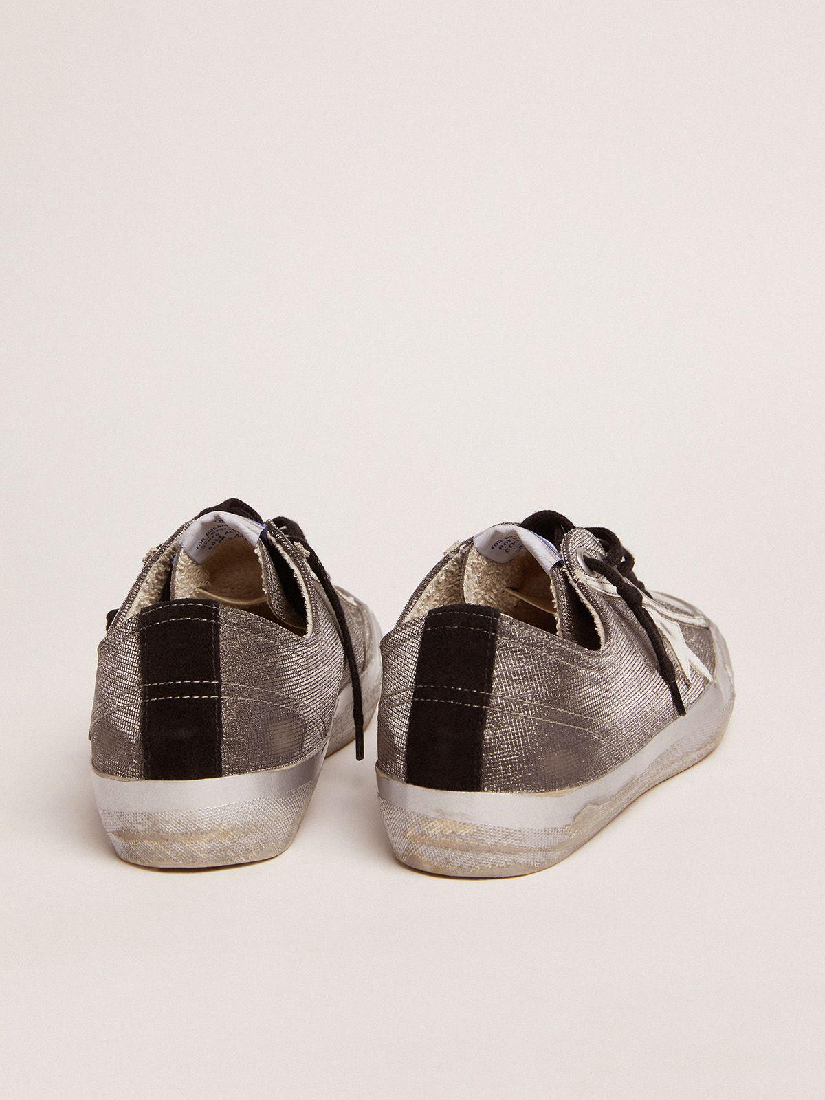 Dark gray V-Star LTD sneakers with checkered pattern and white star 3