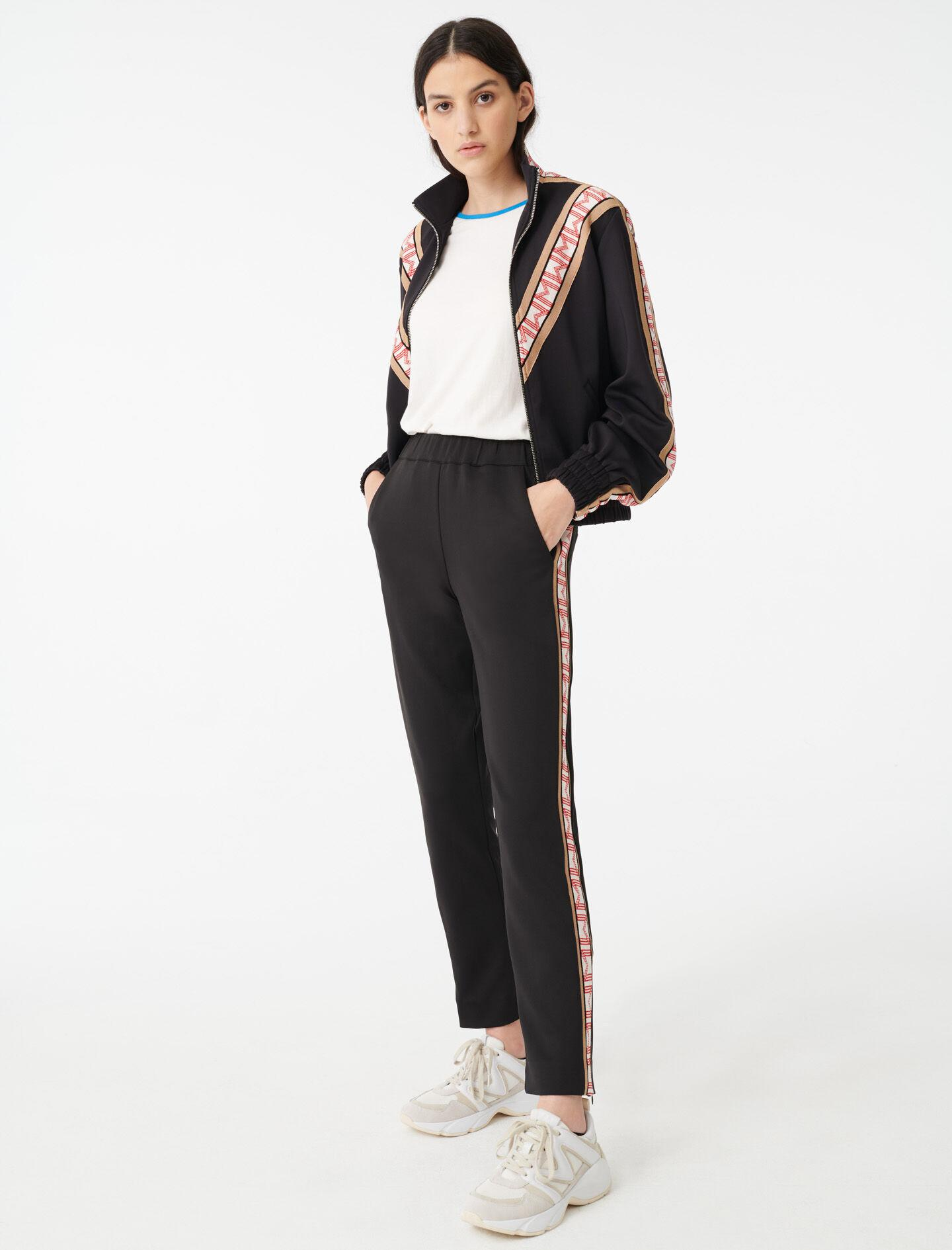 TRACKSUIT BOTTOMS WITH BANDS