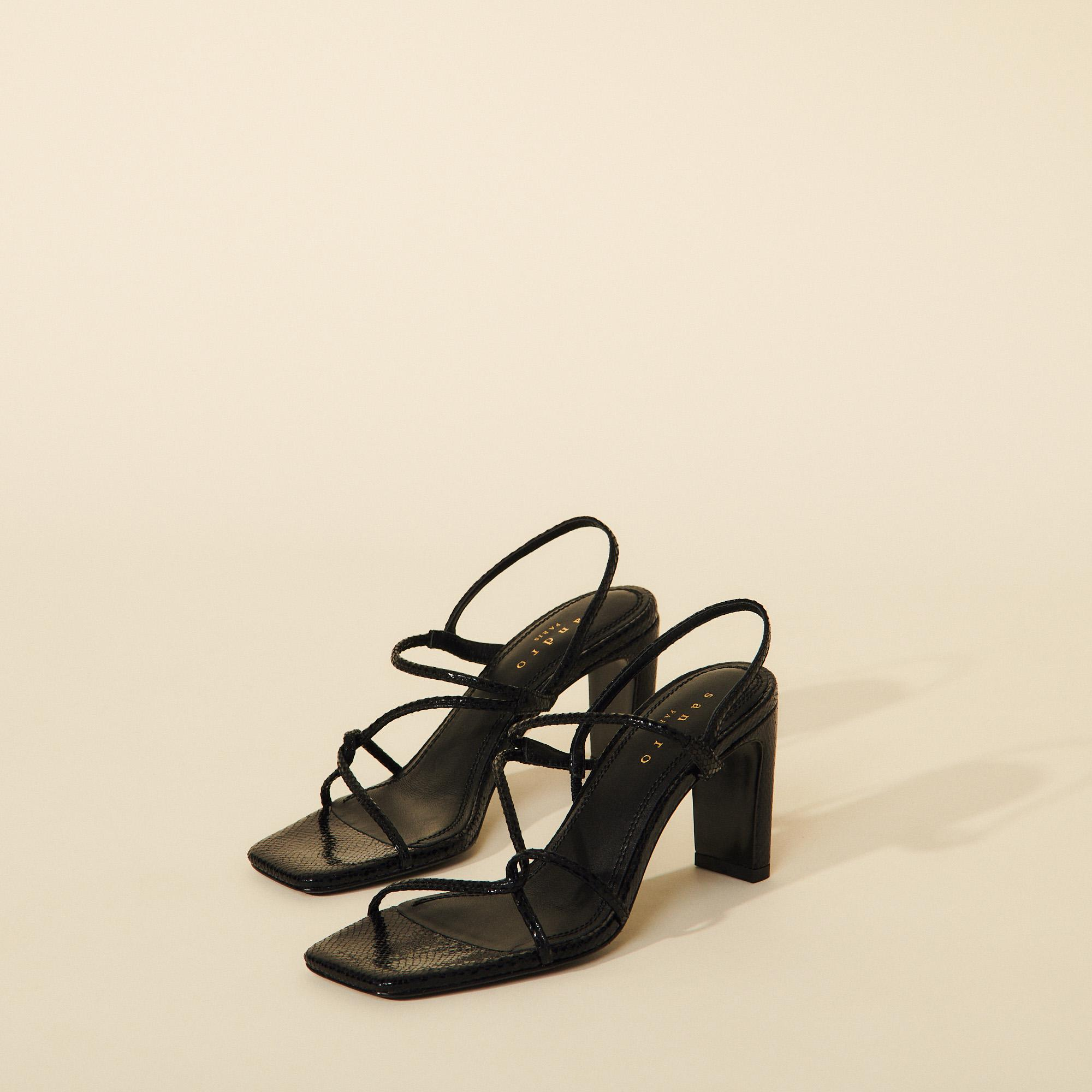 Sandals with narrow straps