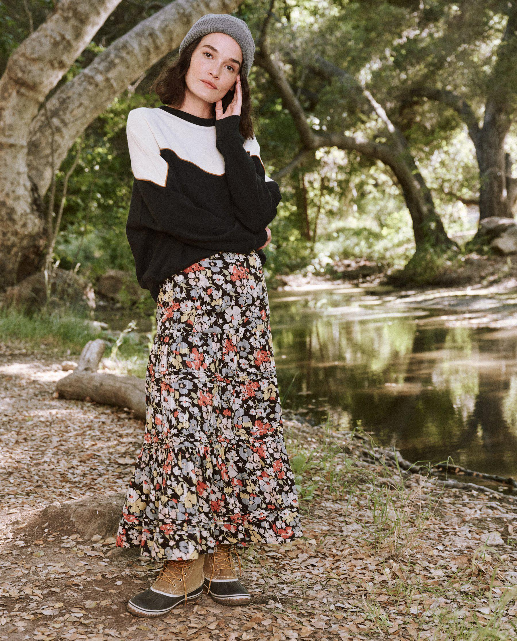 The Grove Skirt. -- Meadow Floral