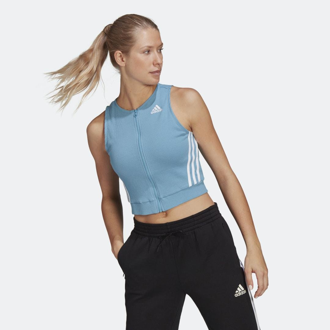 Sportswear Fitted Fit Ribbed Tank Top Hazy Blue