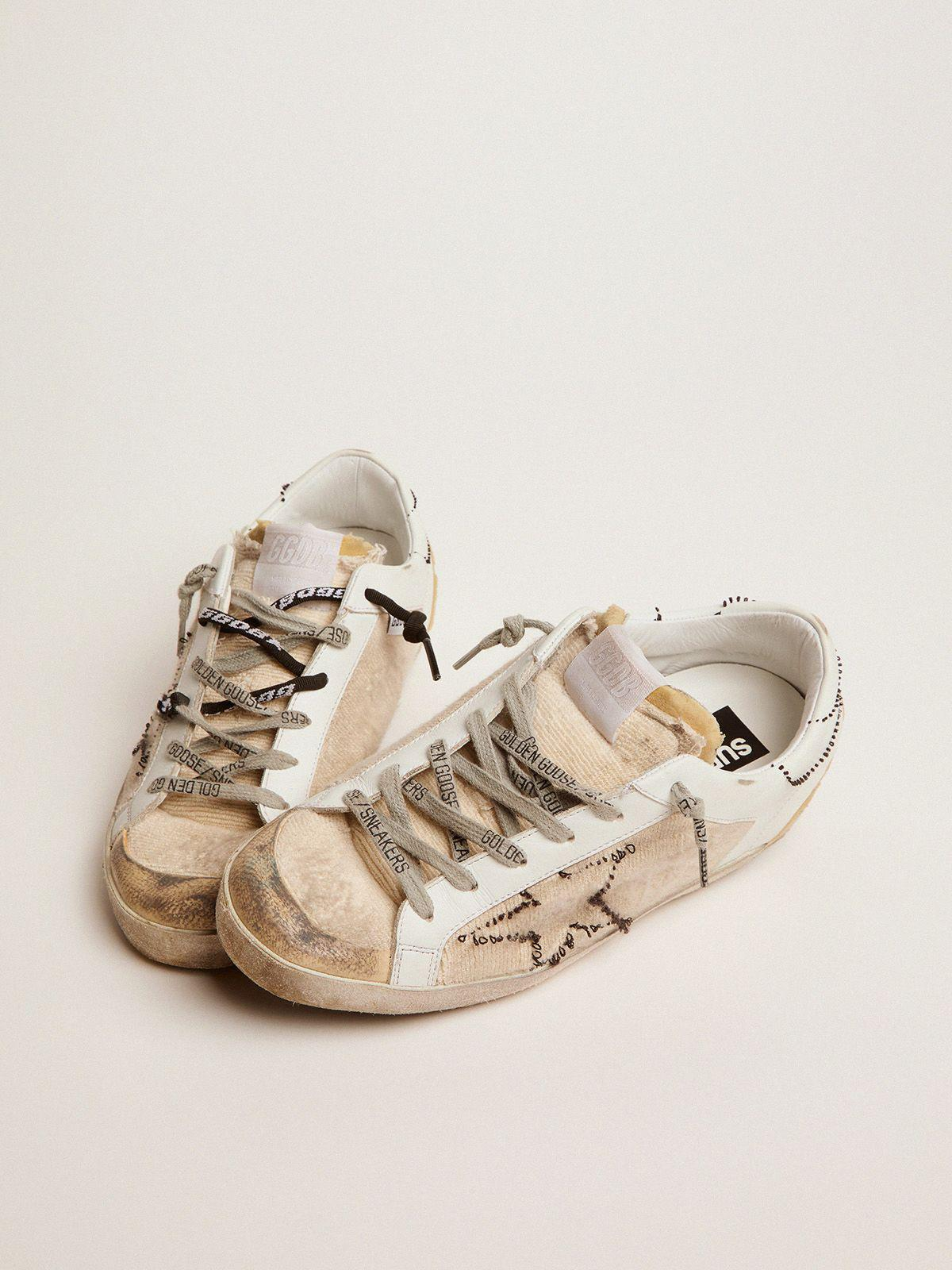 White and beige inside out Super-Star sneakers 1