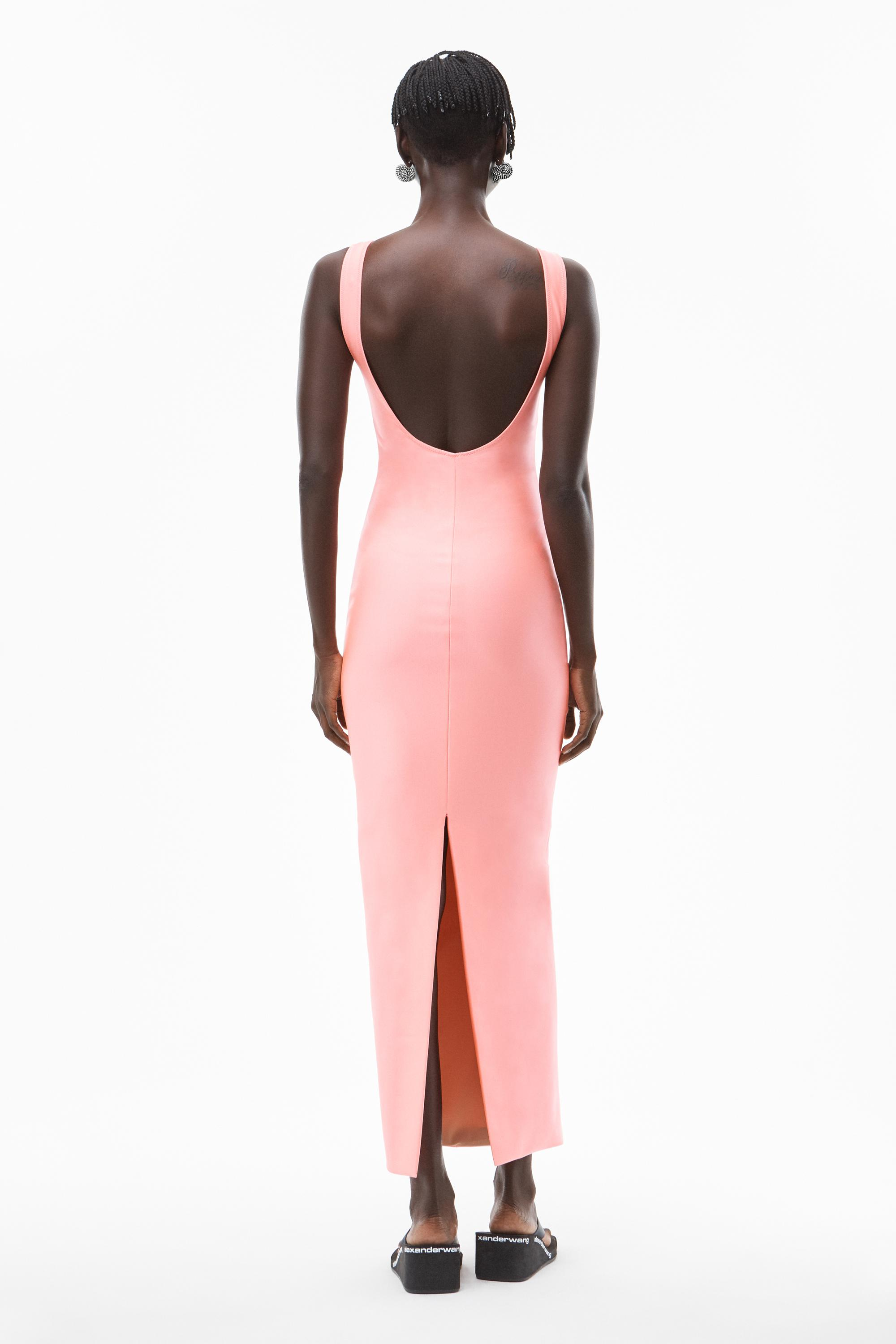 crystal logo gown in active stretch 4