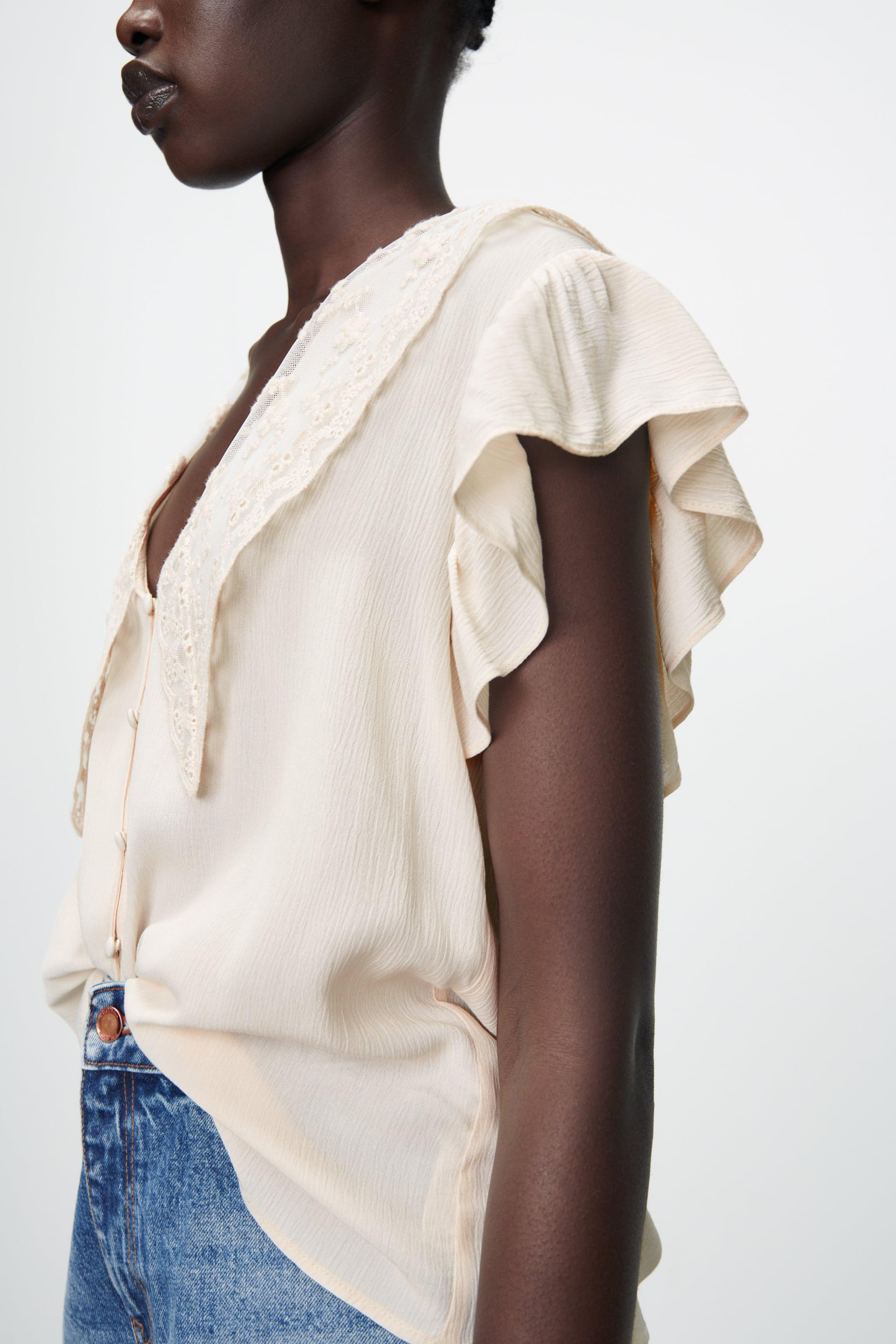 EMBROIDERED LAPEL BLOUSE 2