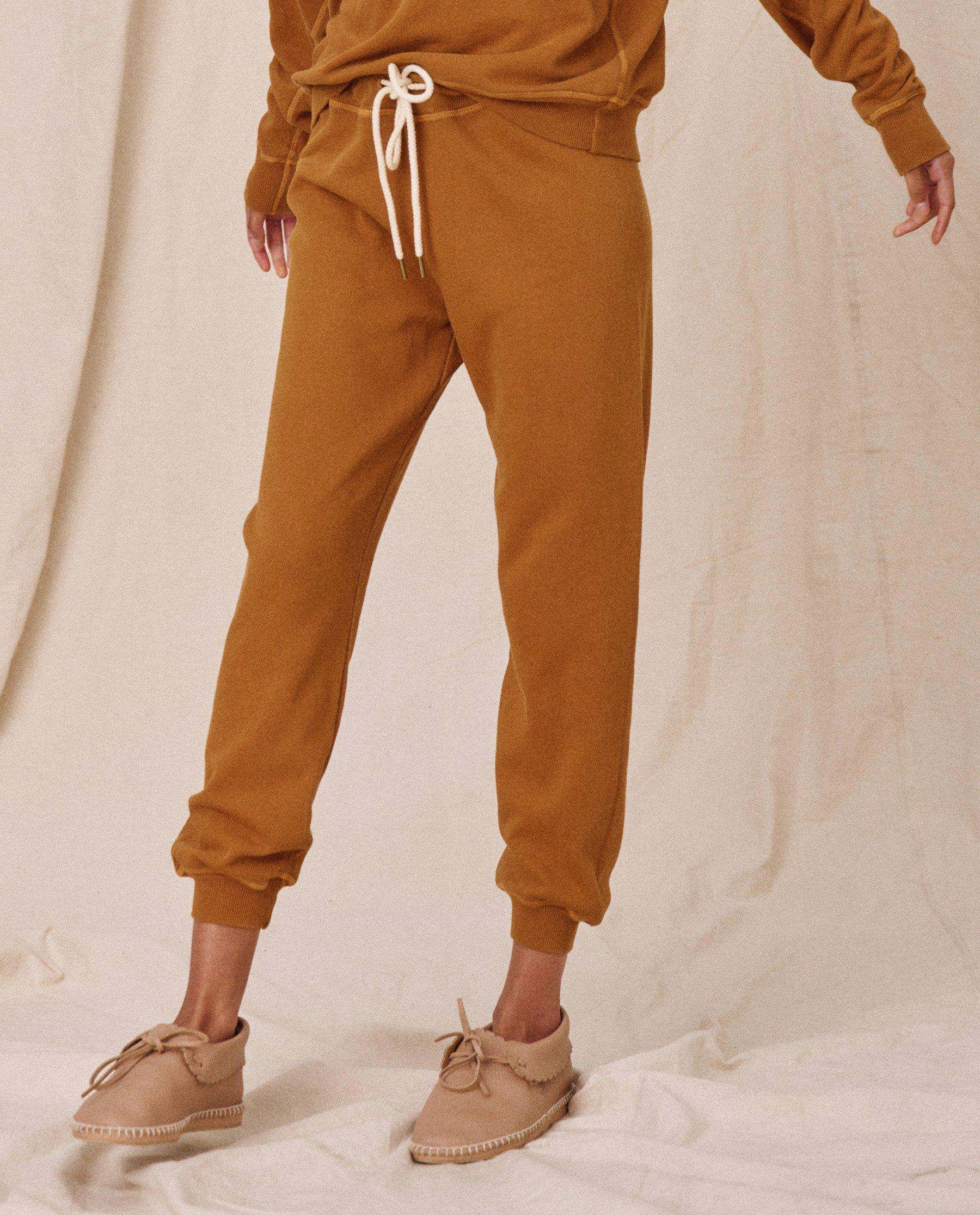 The Cropped Sweatpant. Solid -- Cider