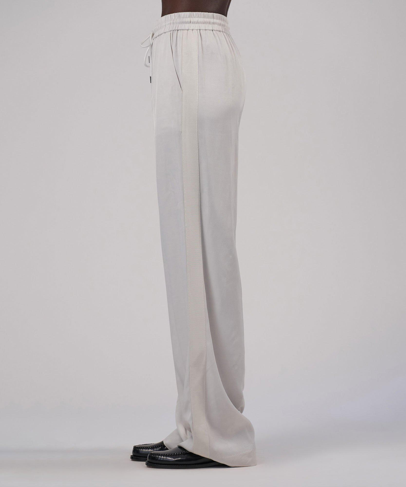 Viscose Twill Wide Leg Pull-On Pant - Gesso 1