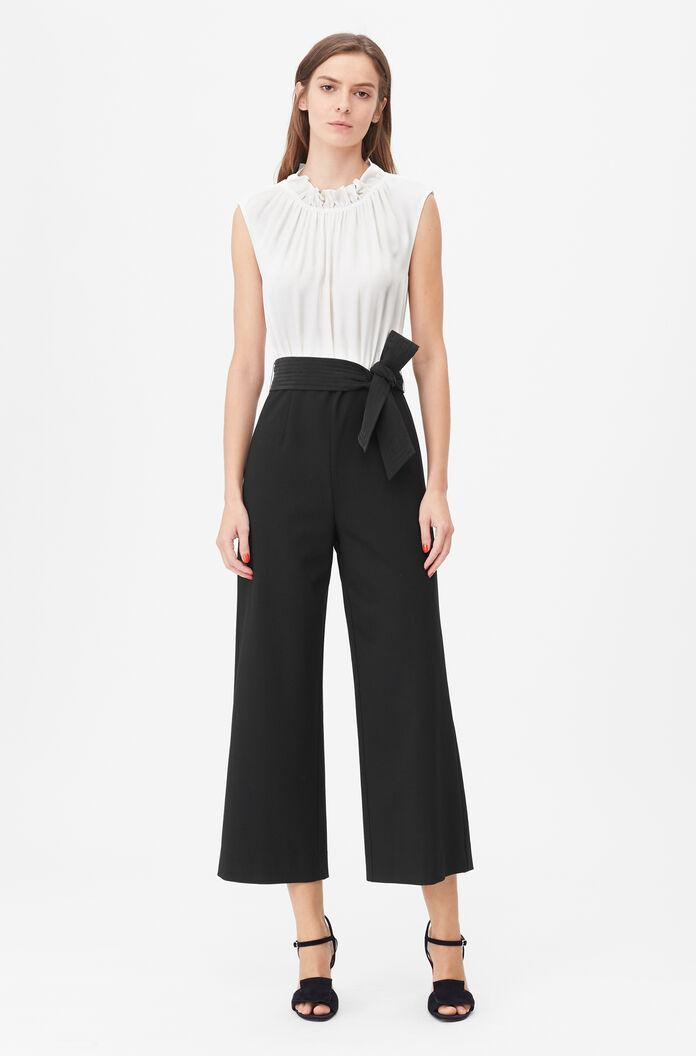 TAILORED SILK & CLEAN SUITING JUMPSUIT