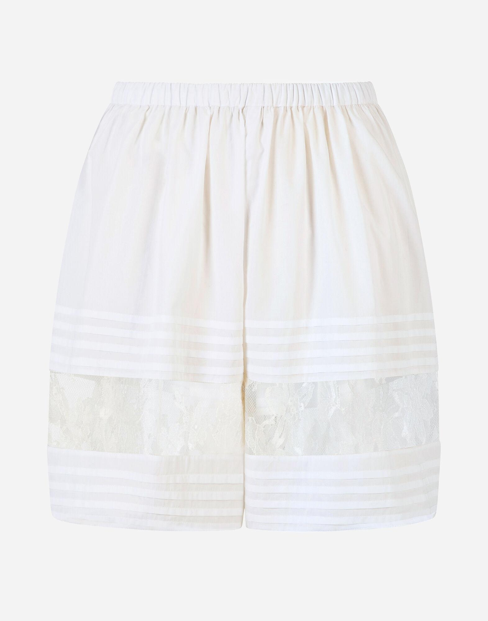 Silk shorts with lace details 4