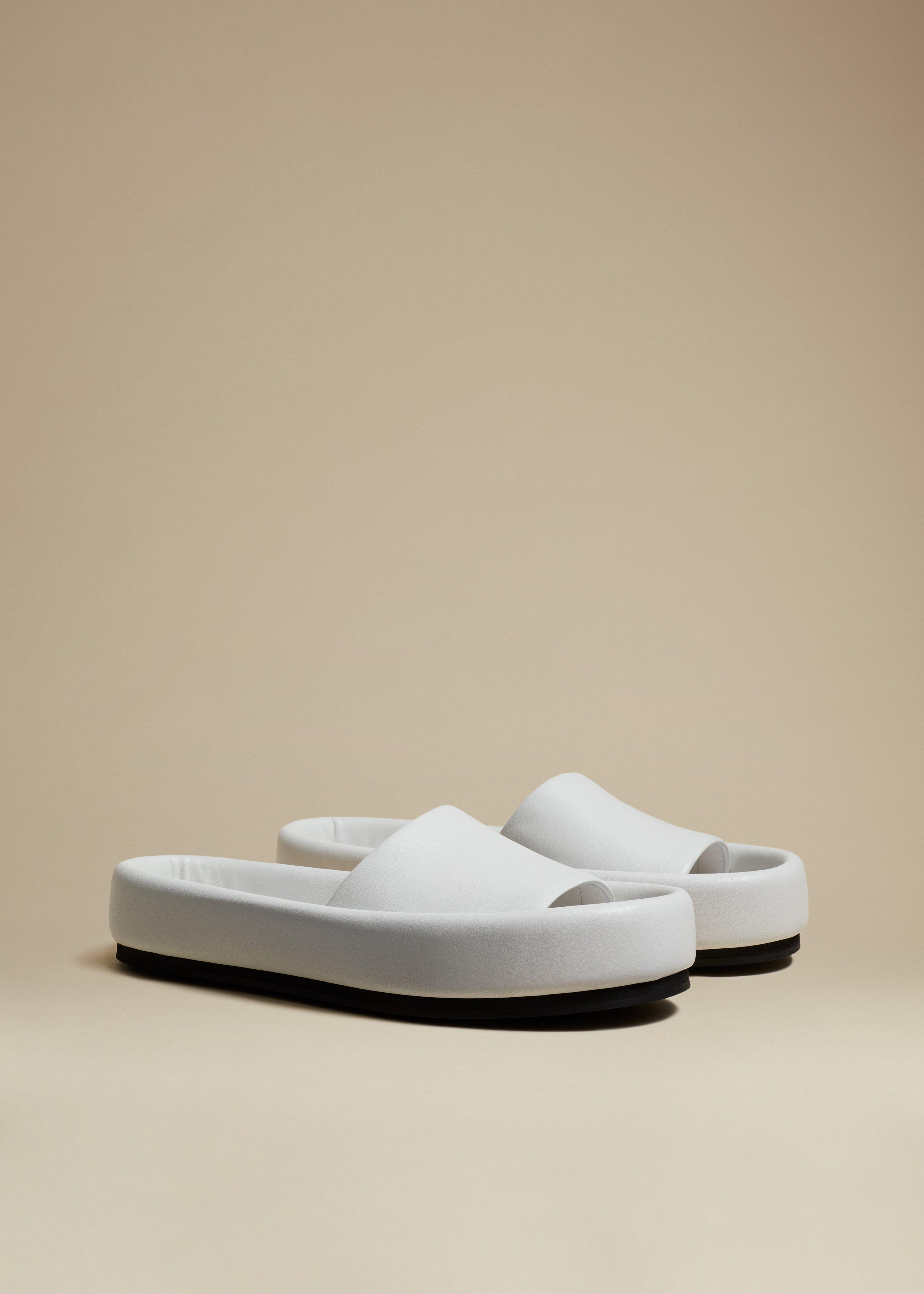 The Venice Sandal in White Leather 1