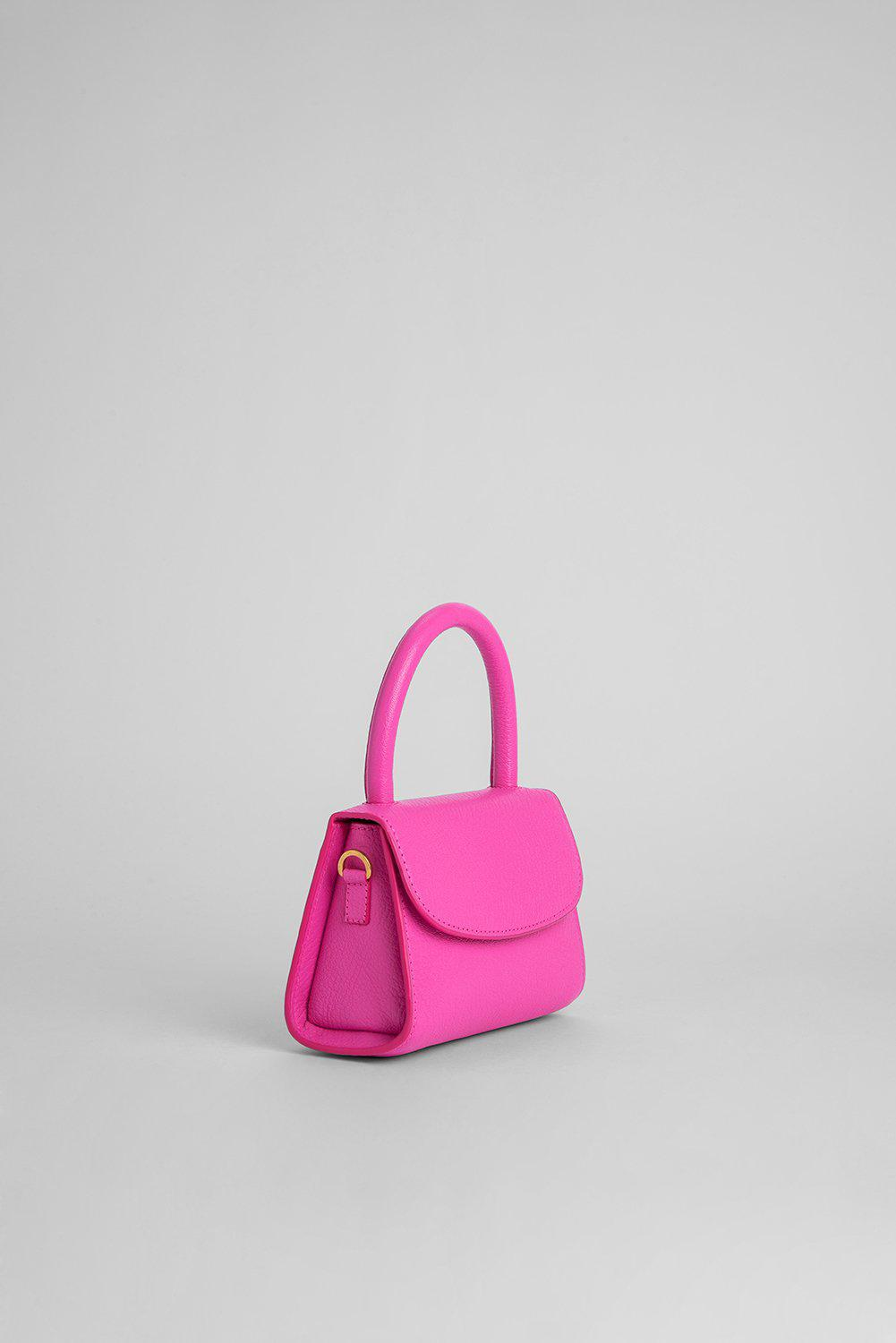 Mini Hot Pink Grained Leather 1