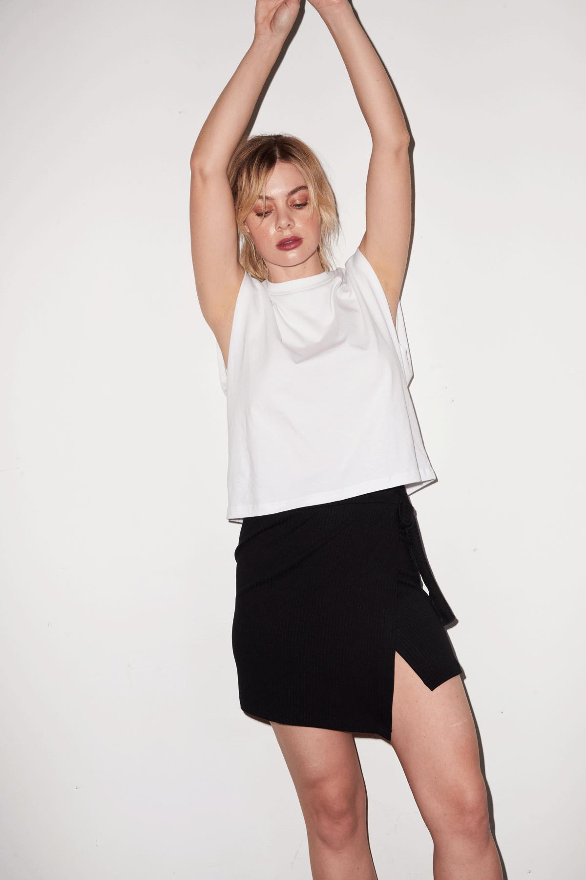 Strong Shoulder Tee - White 5