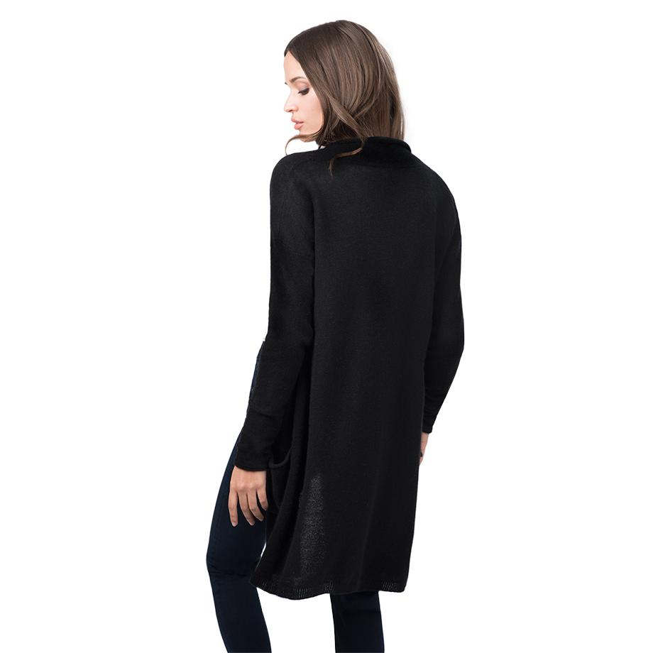 Women's Open Cashmere Cardigan in Black   Size: XS/Small   100% Italian Cashmere by Cuyana 3