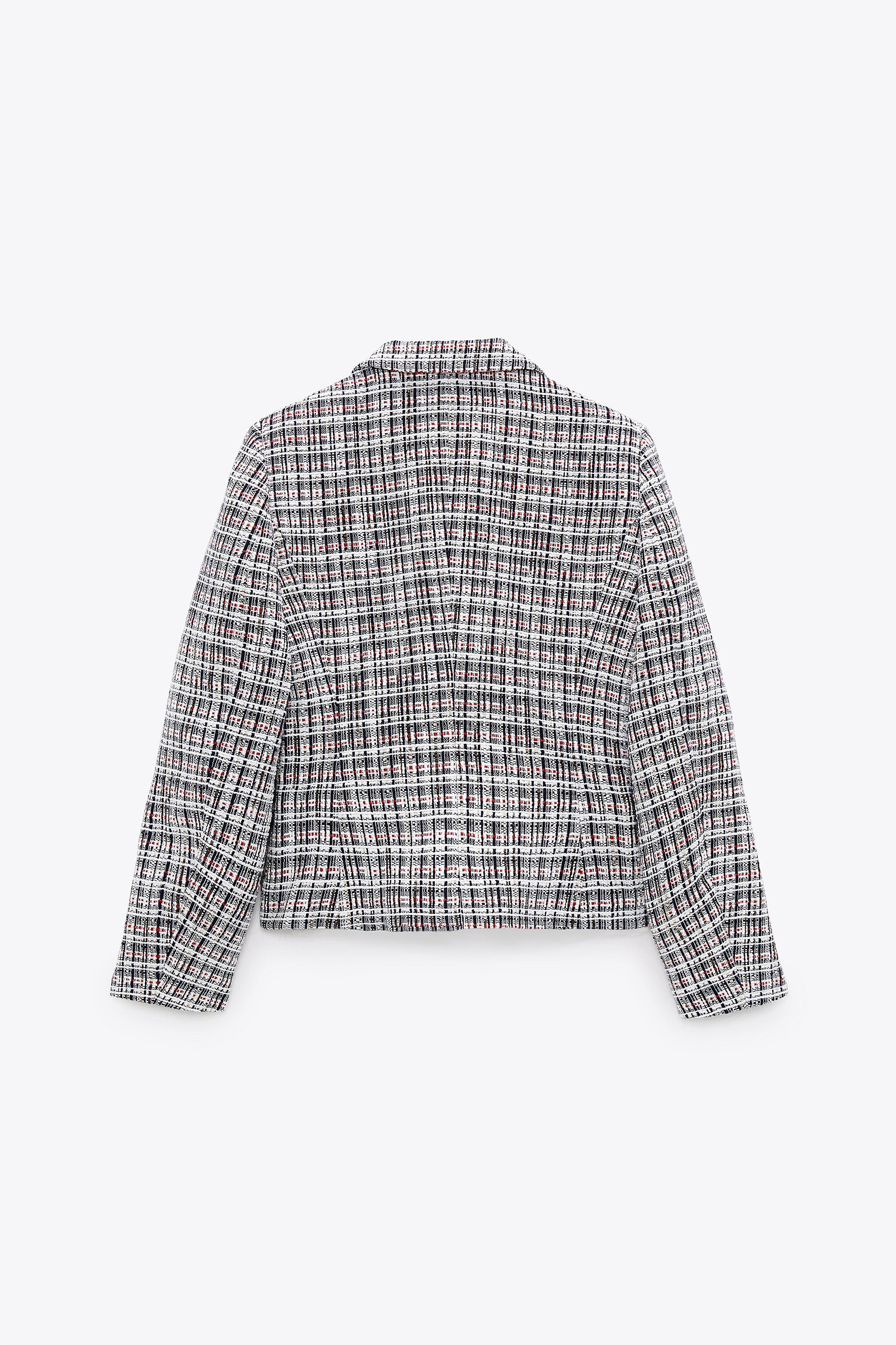 DOUBLE BREASTED TEXTURED WEAVE JACKET 9