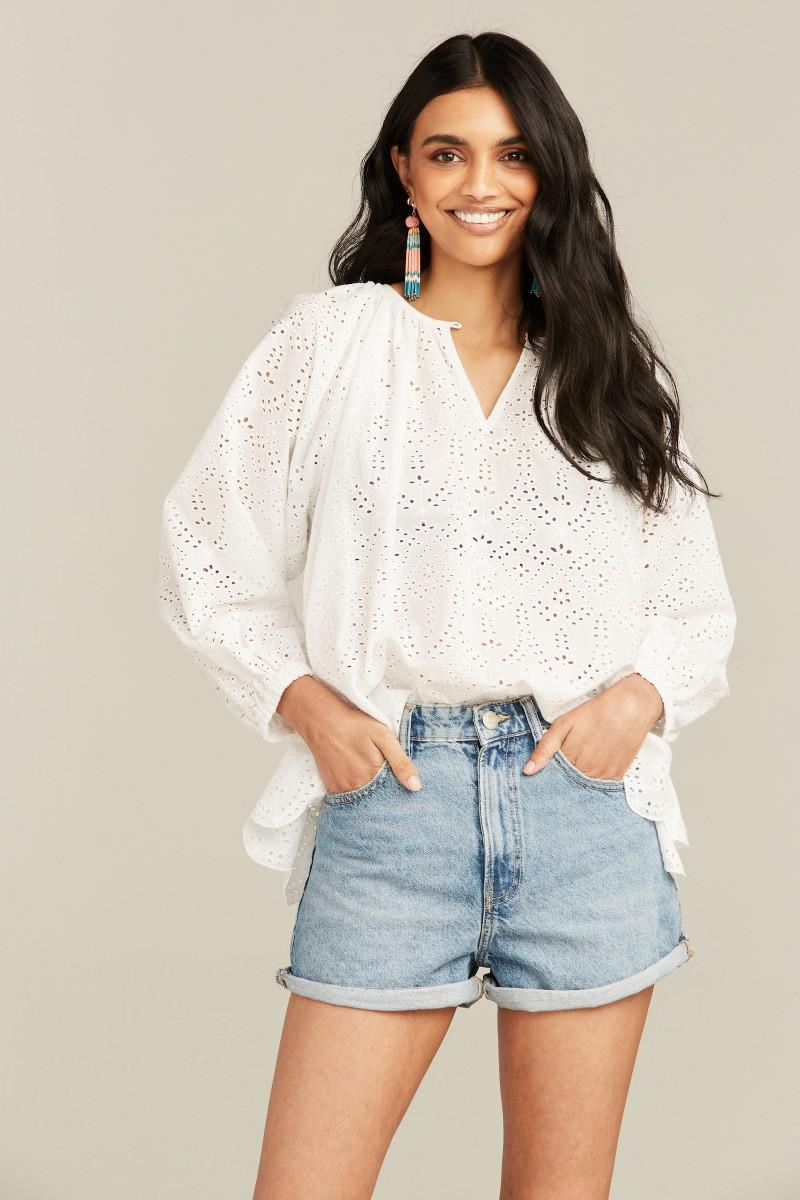EYELET ANETTE TOP