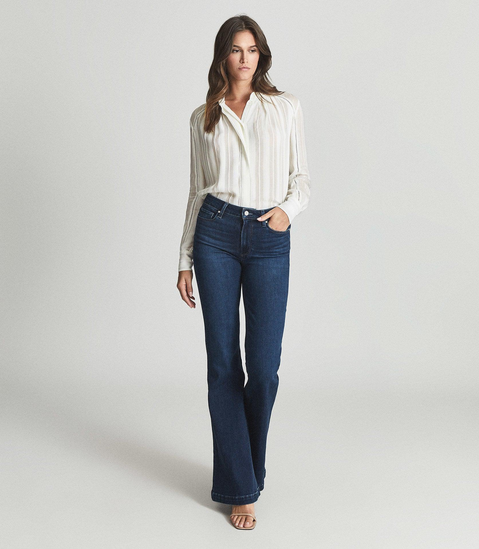 GENEVIEVE - PAIGE HIGH RISE FLARED JEANS