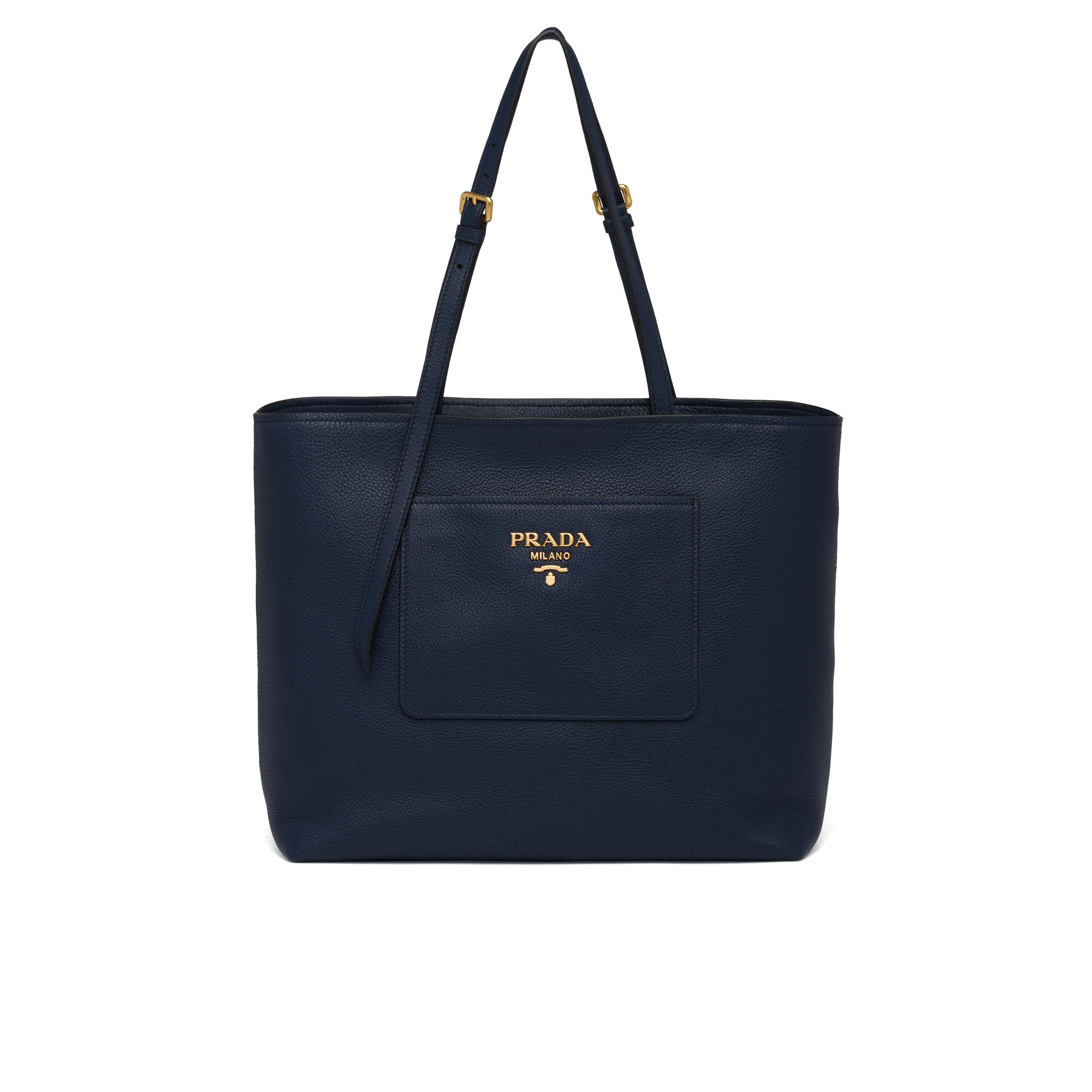 Leather Tote Women Baltic Blue