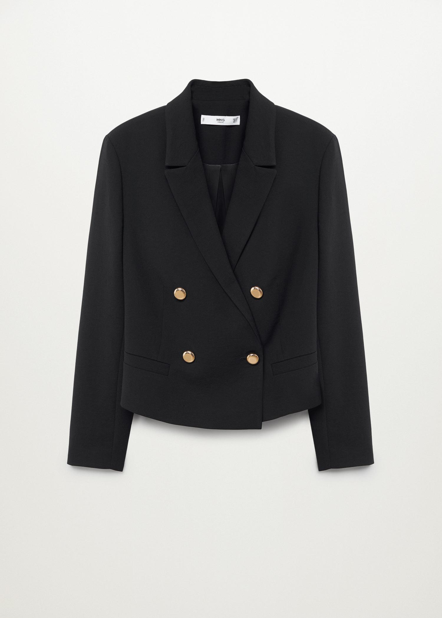 Cropped blazer with buttons 6