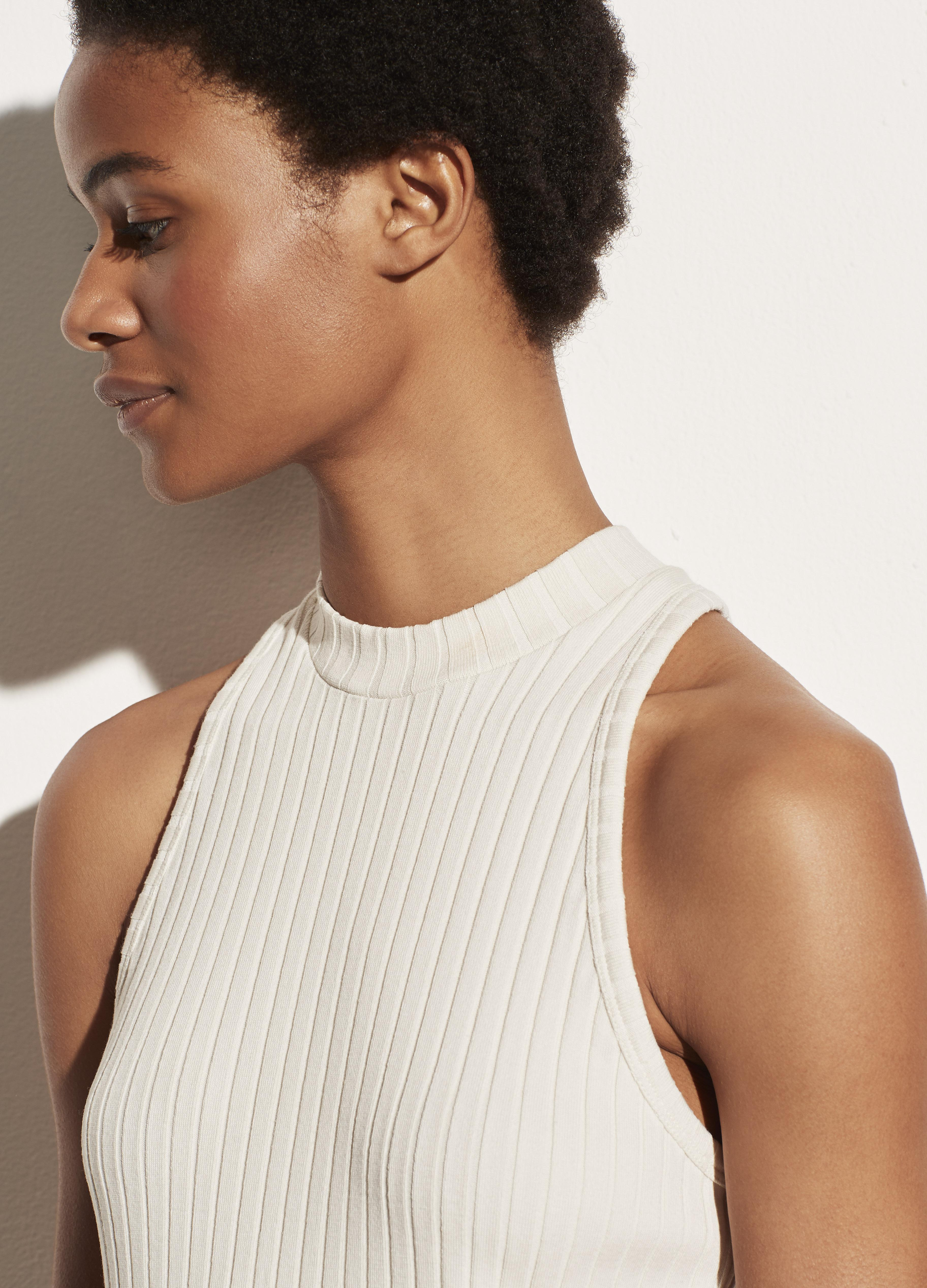 Ribbed High Neck Shell 1