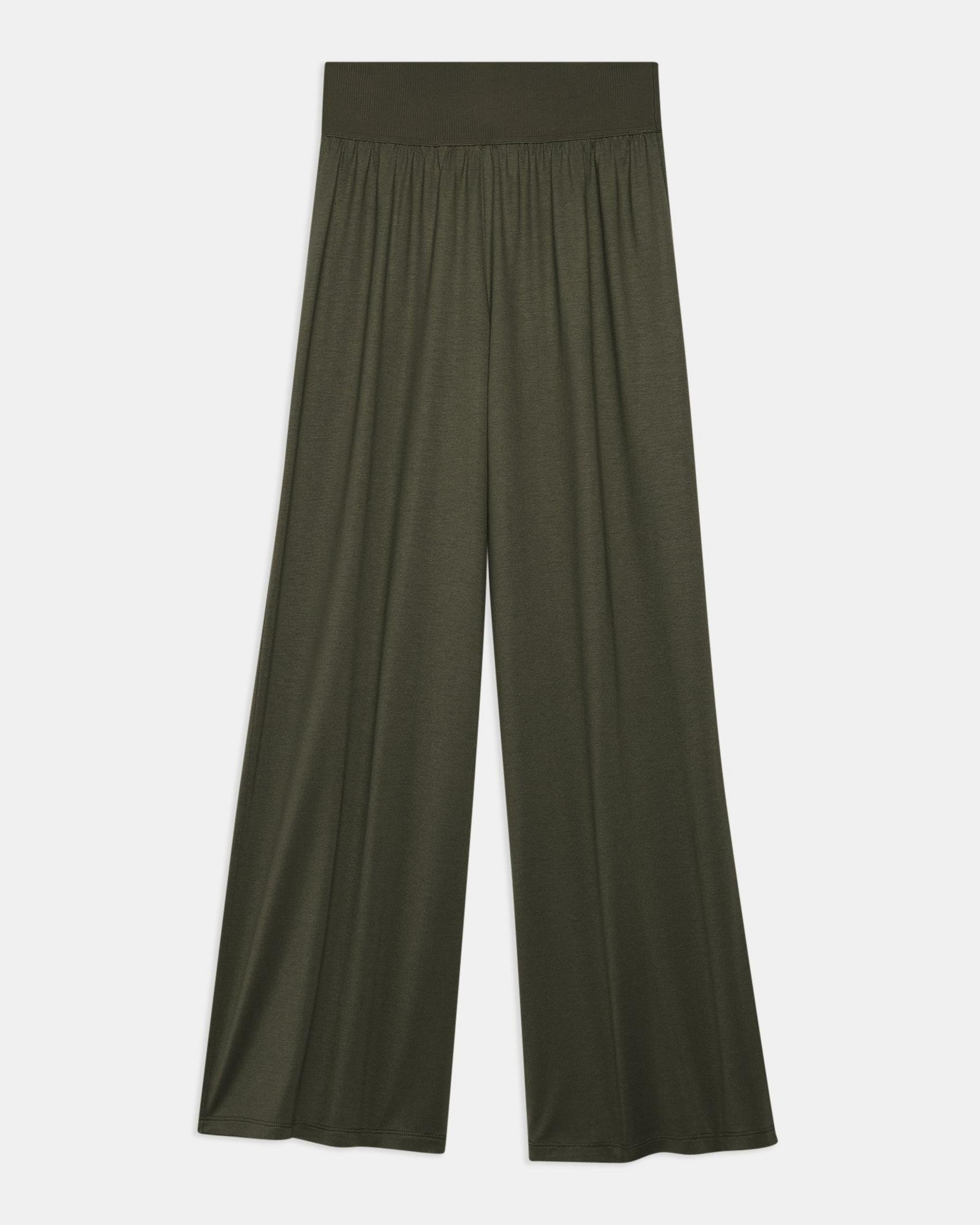 Ribbed Waist Pant in Silk Jersey 4