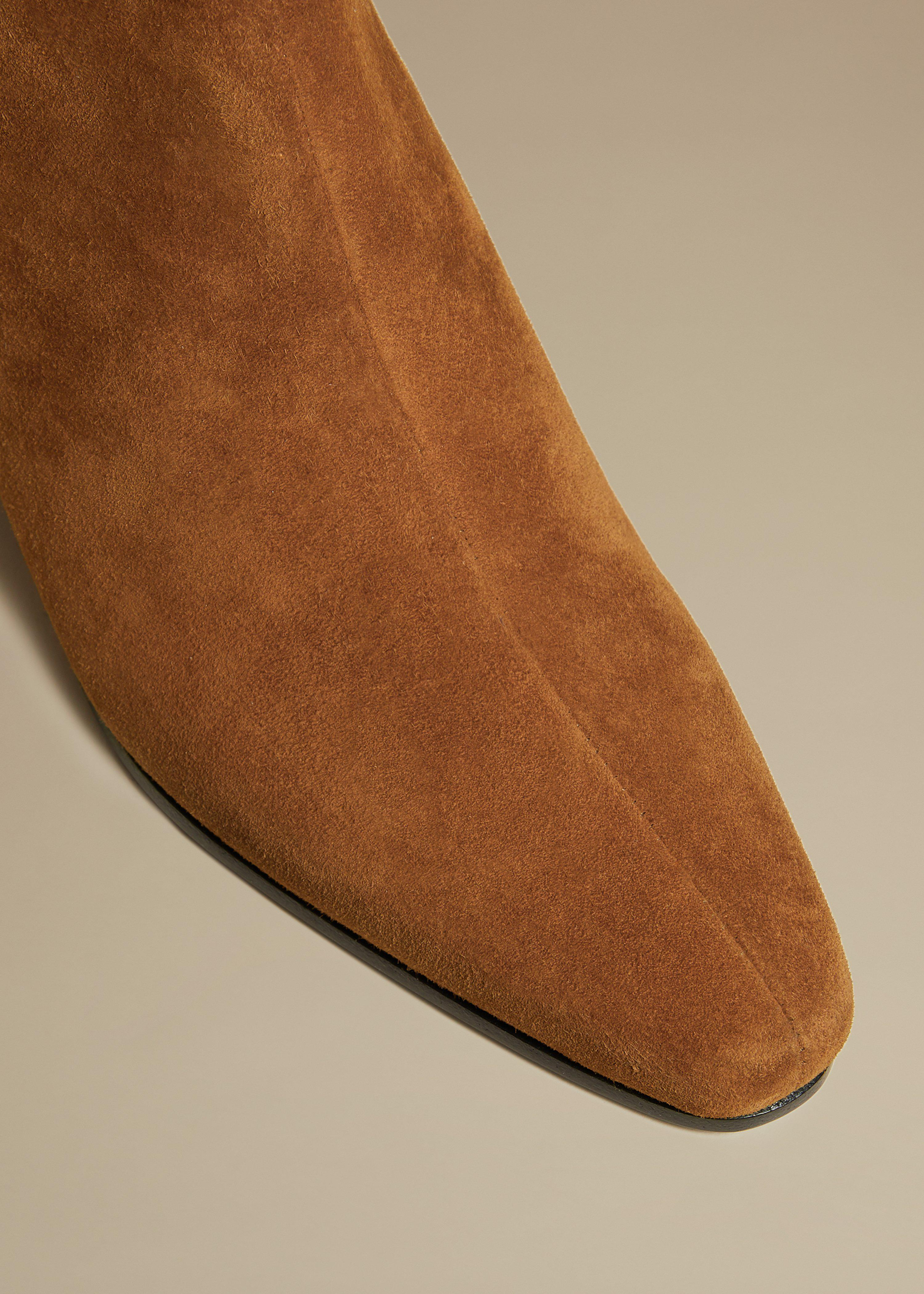 The Saratoga Boot in Caramel Suede 2