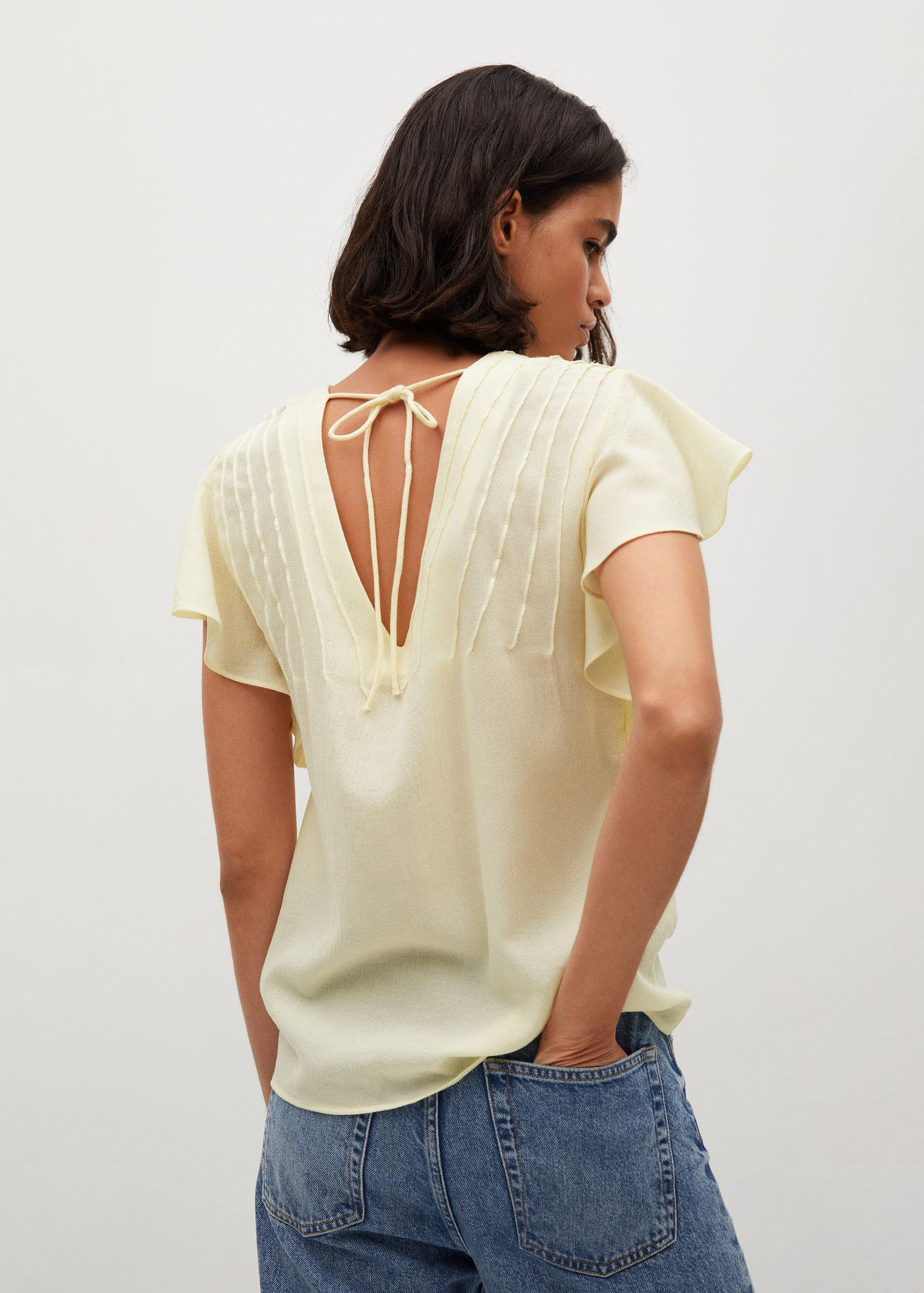 Bow textured blouse 2