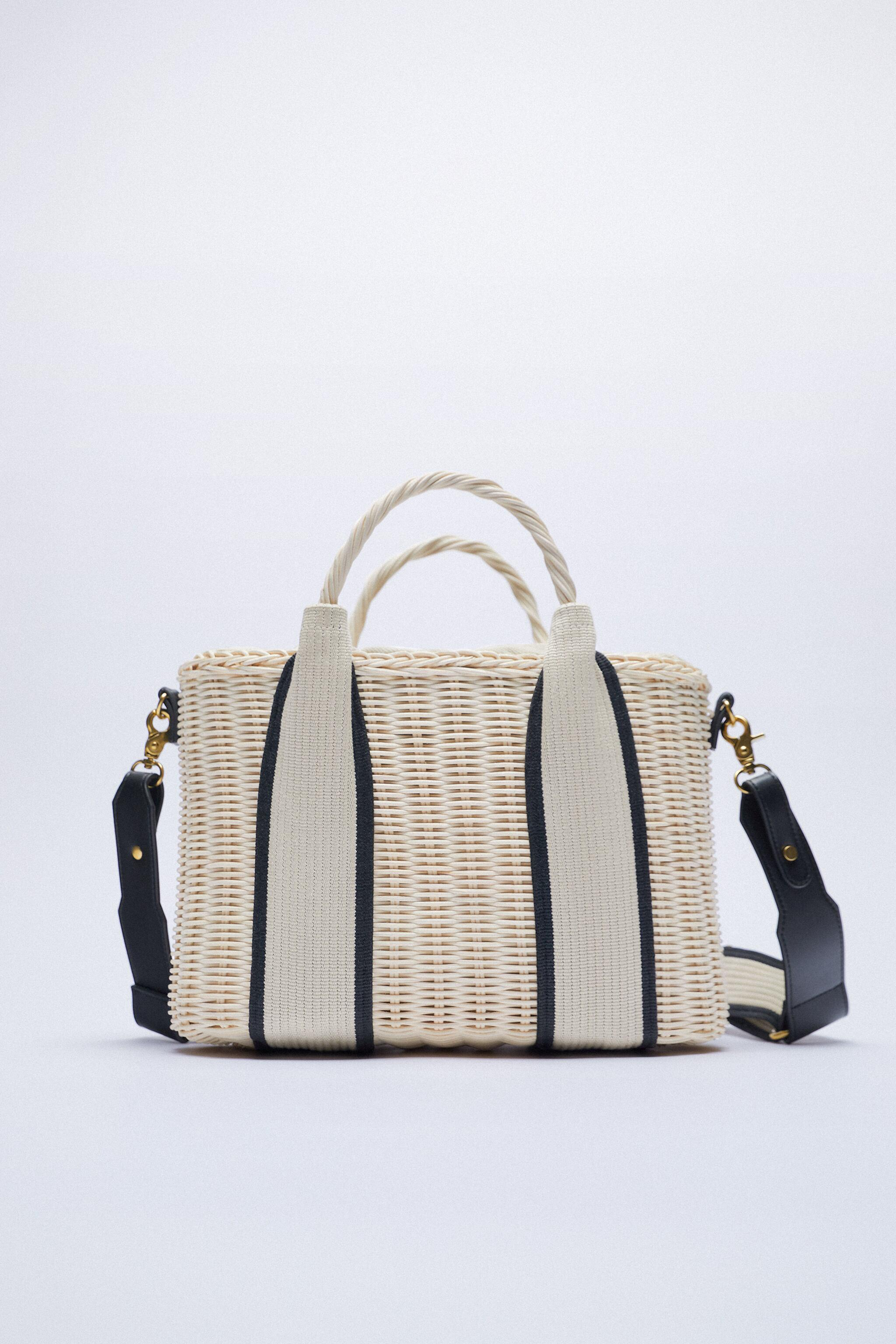 WOVEN TOTE WITH HANDLES