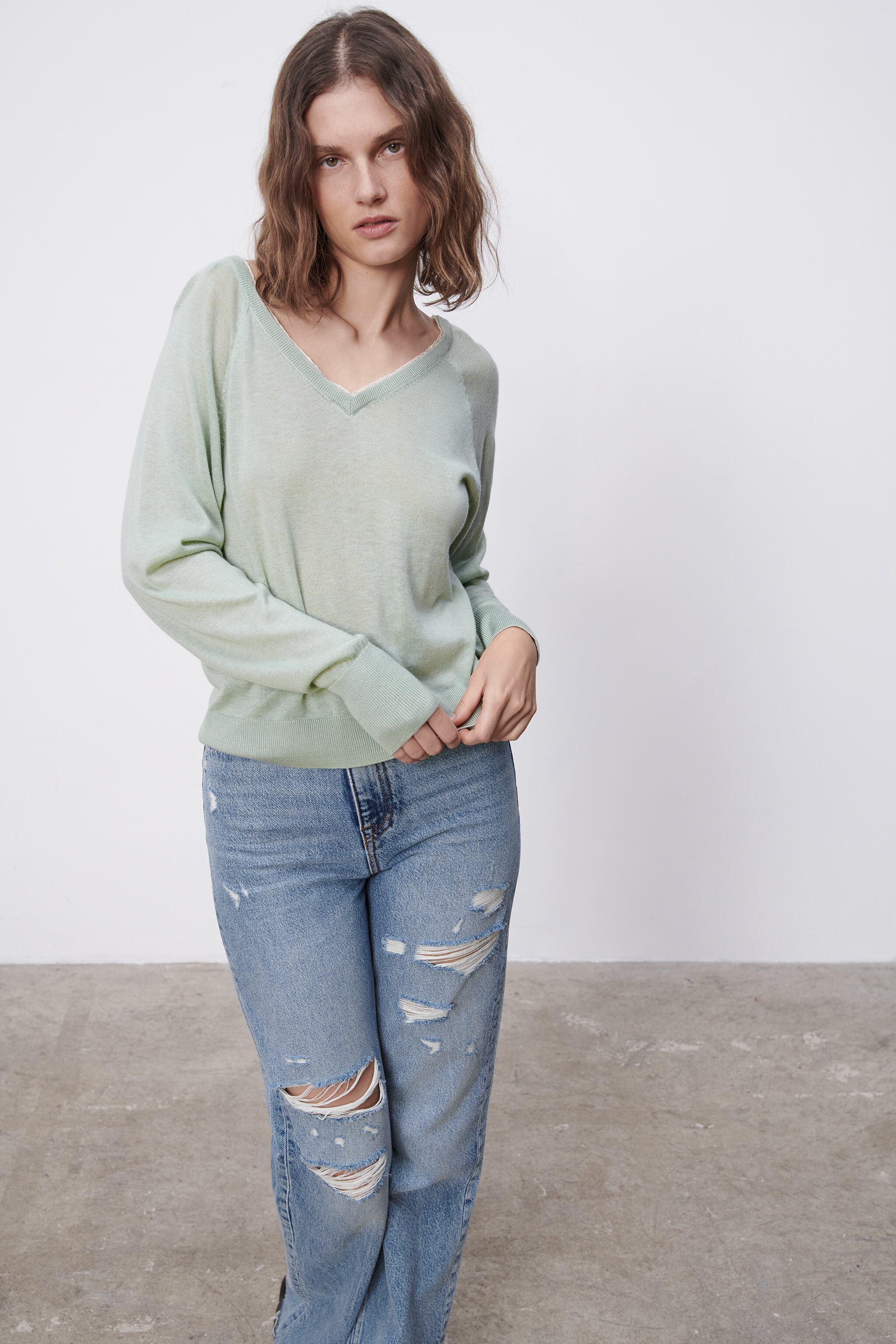 COMBINATION KNIT SWEATER 1