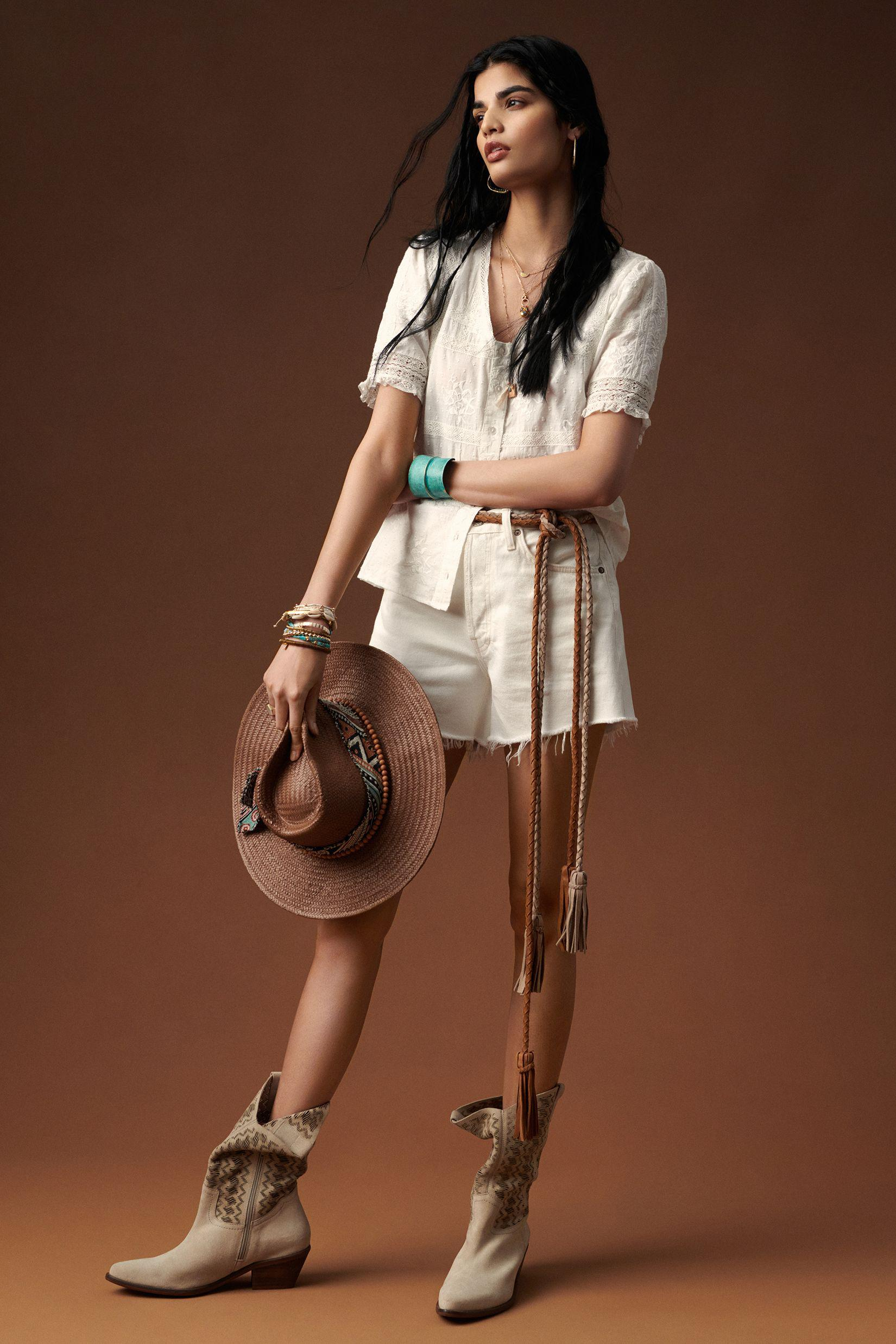 Cut-Out Suede Western Boots 5