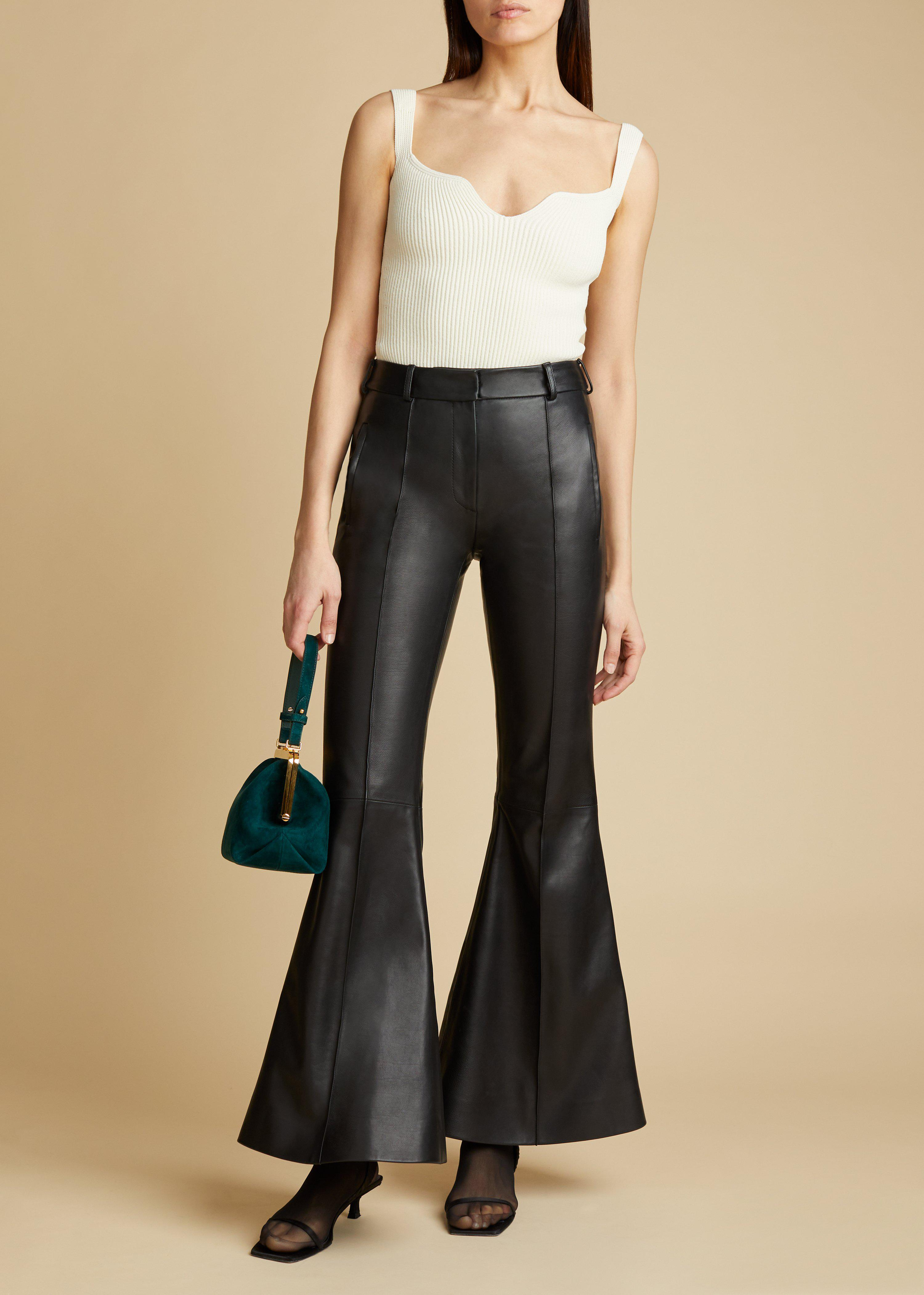 The Charles Pant in Black Leather