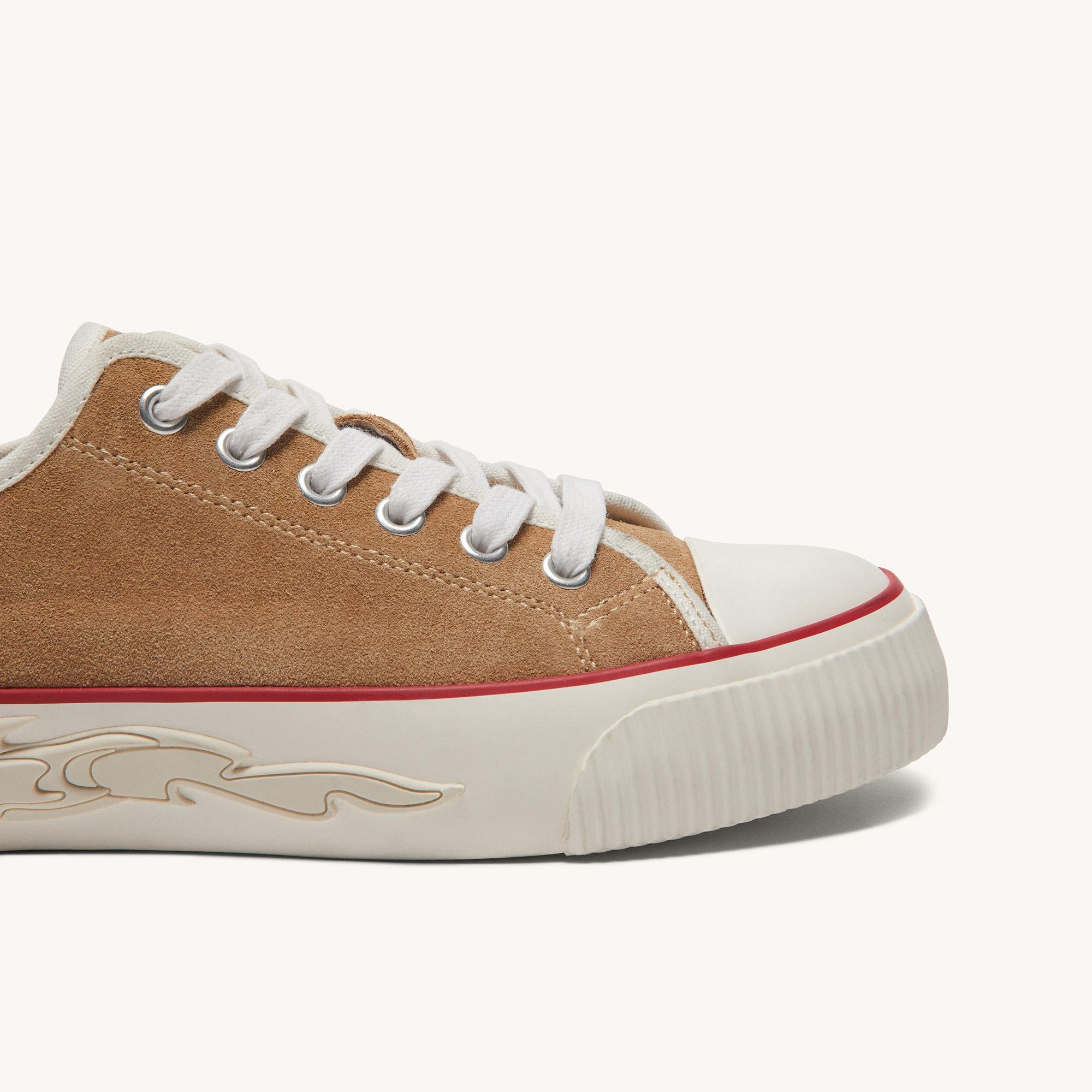 Suede sneakers with flame sole 2