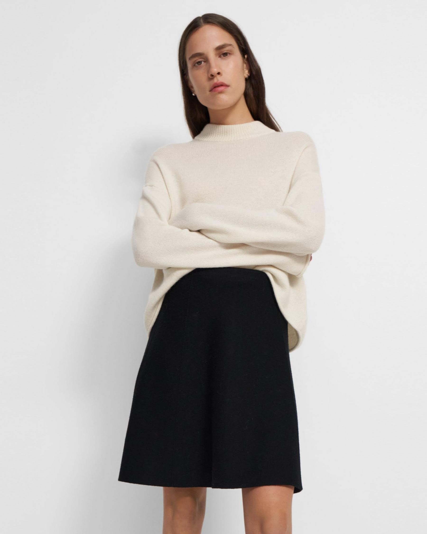 Flared Skirt in Empire Wool
