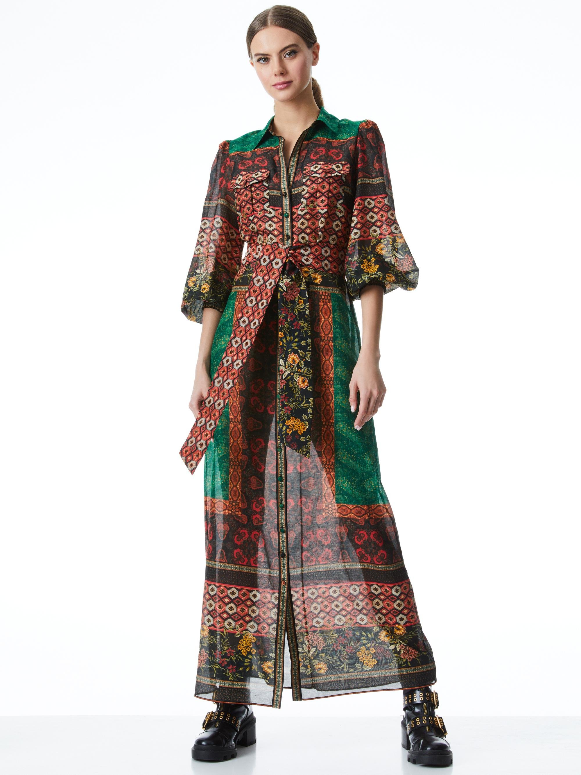 BEVERLY BUTTON FRONT MAXI DRESS