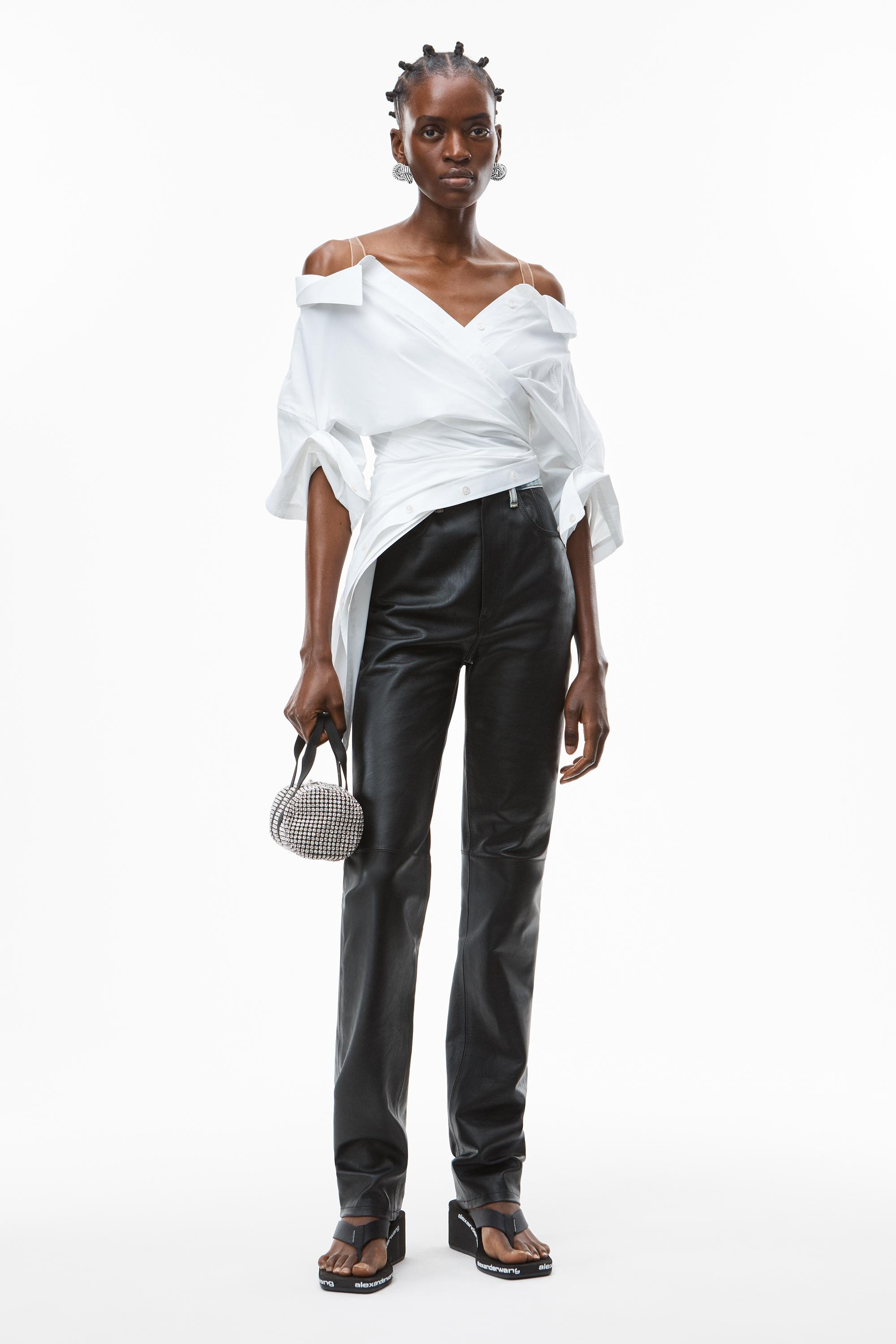 deconstructed top in crushed cotton 4