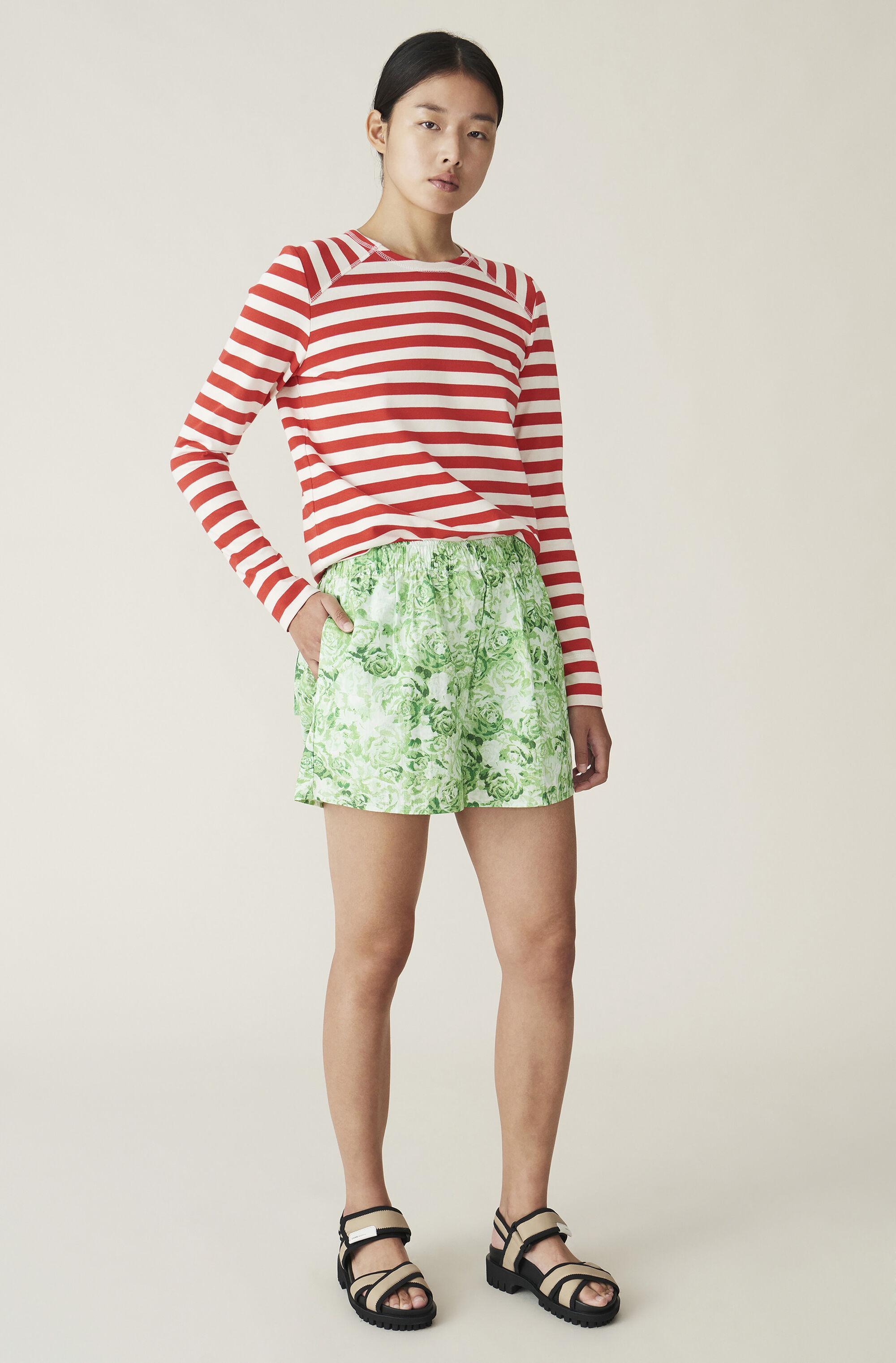 Striped Cotton Jersey Pullover 1