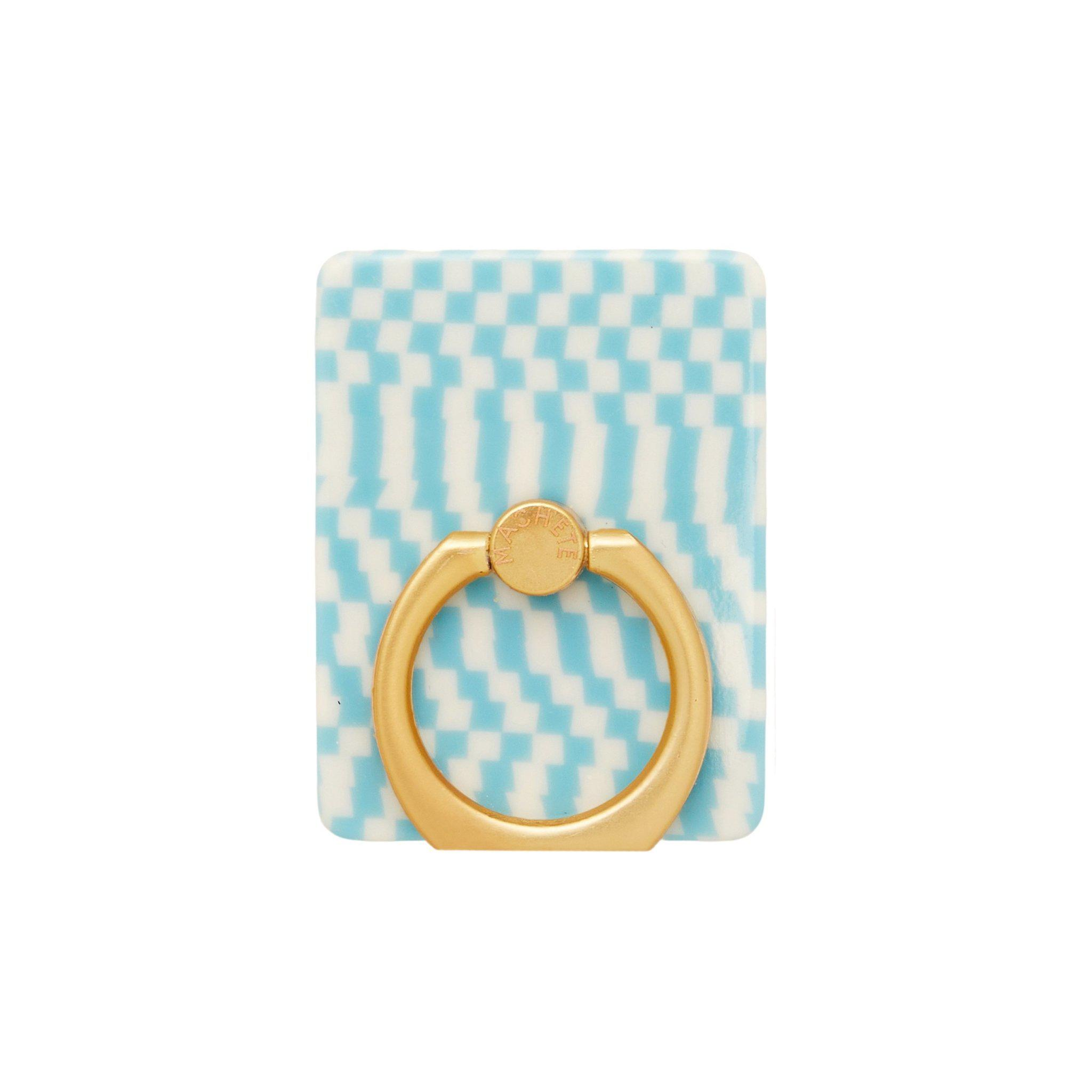 Phone Ring in Blue Checker